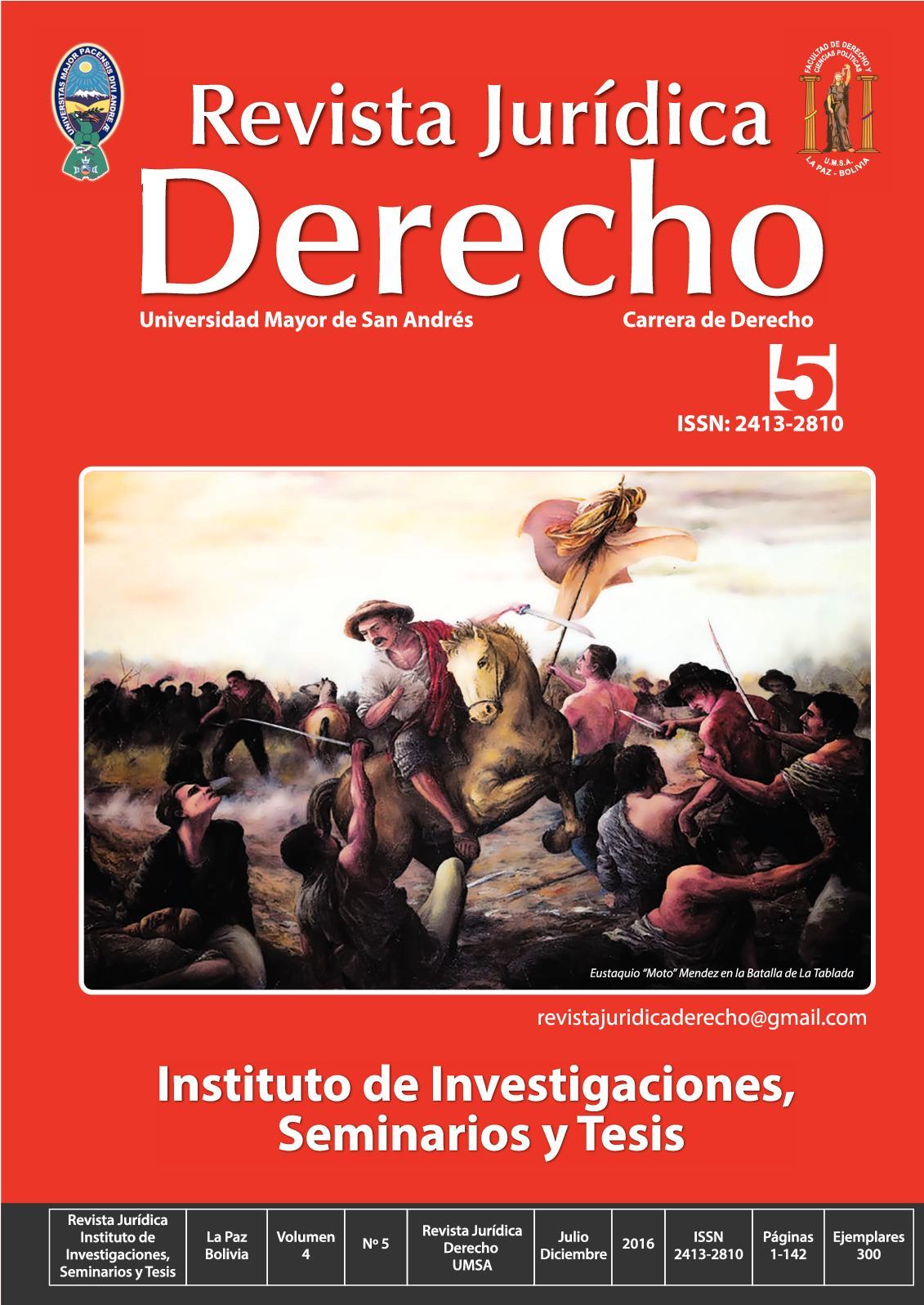 Calaméo - Revista Jurídica Derecho N° 5