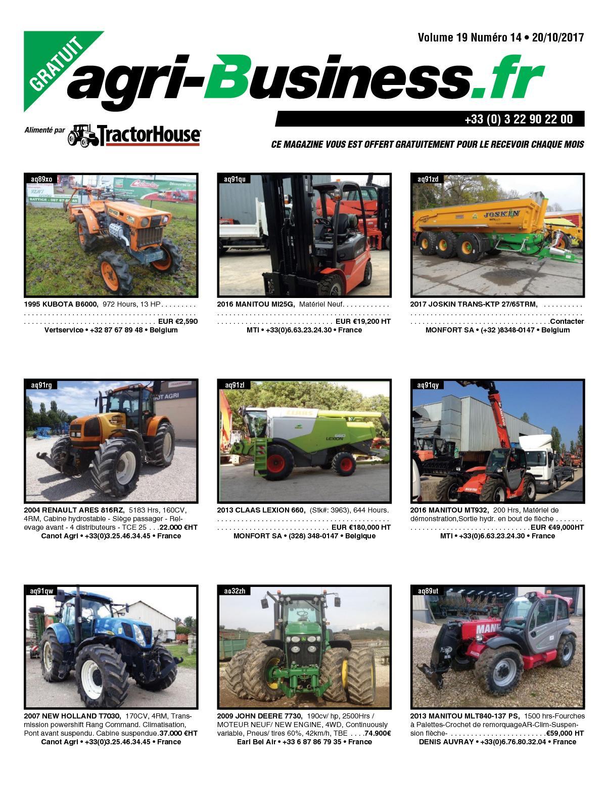 calaméo agri business volume 19 numÉro 14 20 10 2017