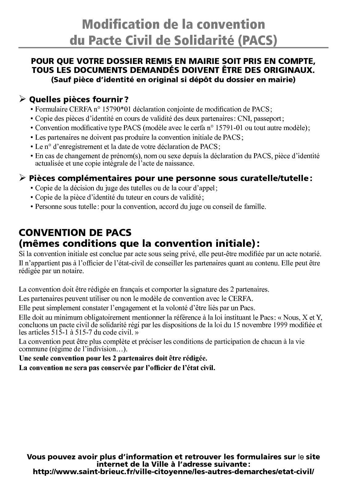 Calameo Modification Pacte Civil De Solidarite