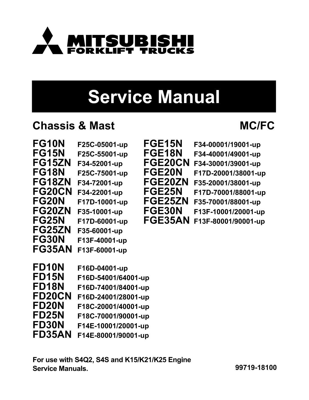 Mitsubishi Forklift Fuse Box Location Diy Enthusiasts Wiring Diagram Calam O Fge15n Trucks Service Repair Manual Rh Calameo Com Colt Eclipse