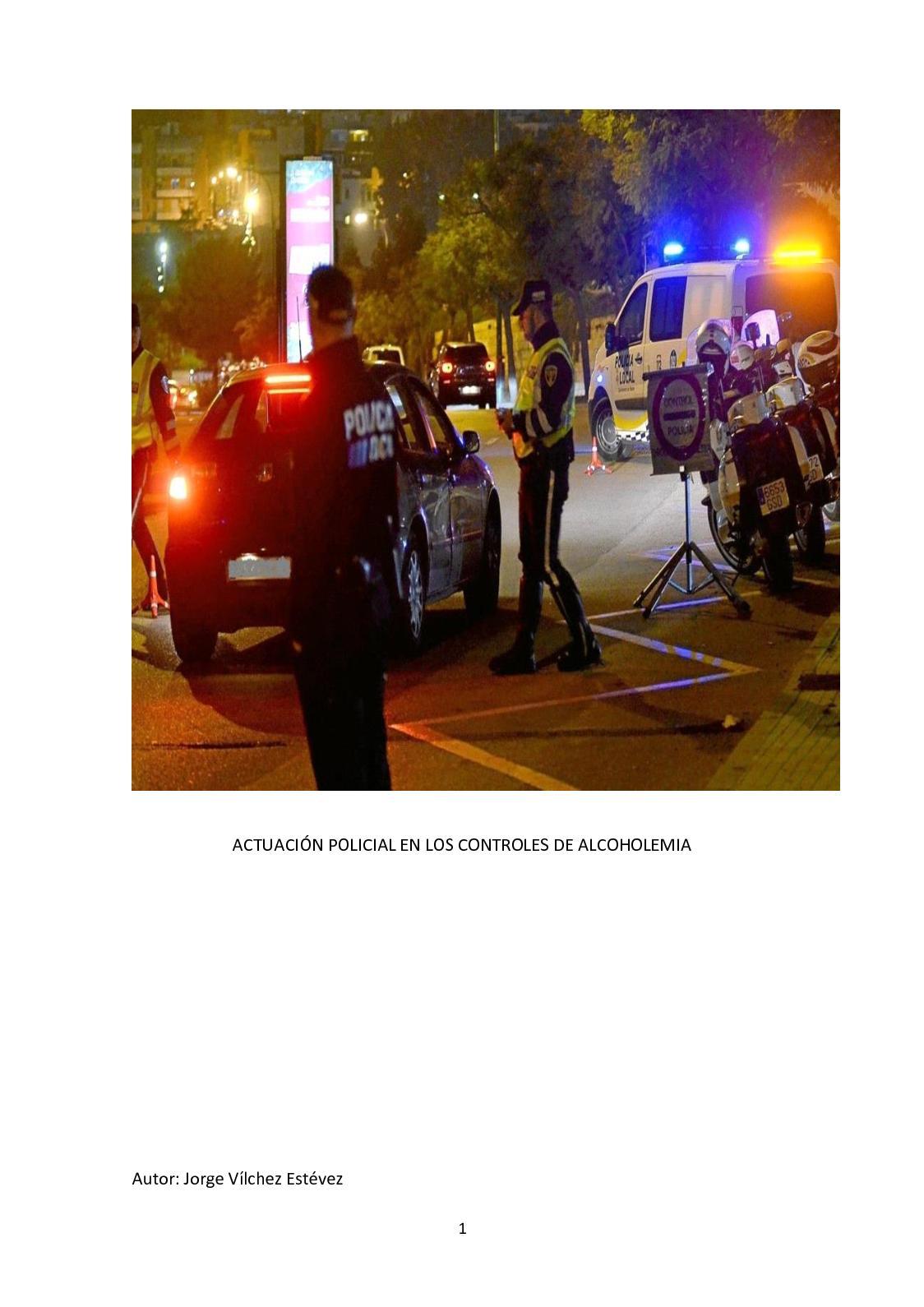Actuación Policial En Los Controles De Alcoholemia