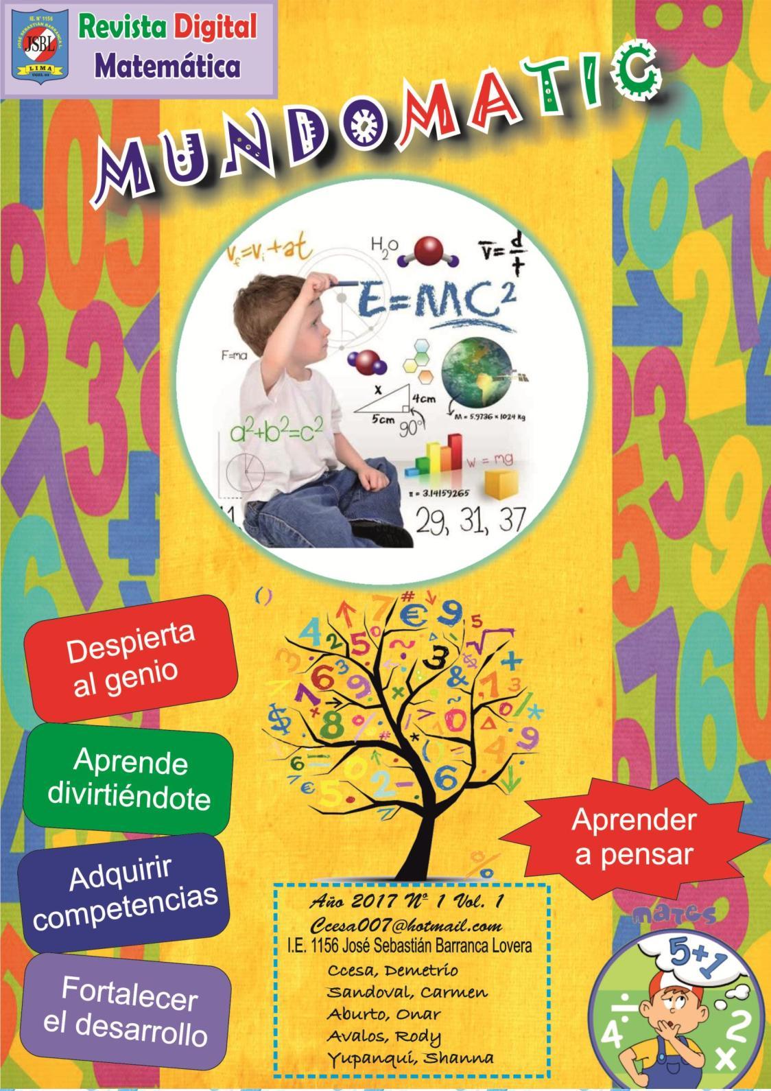 Revista Digital Matematica Mundomatic Demetrio Ccesa Rayme 2017