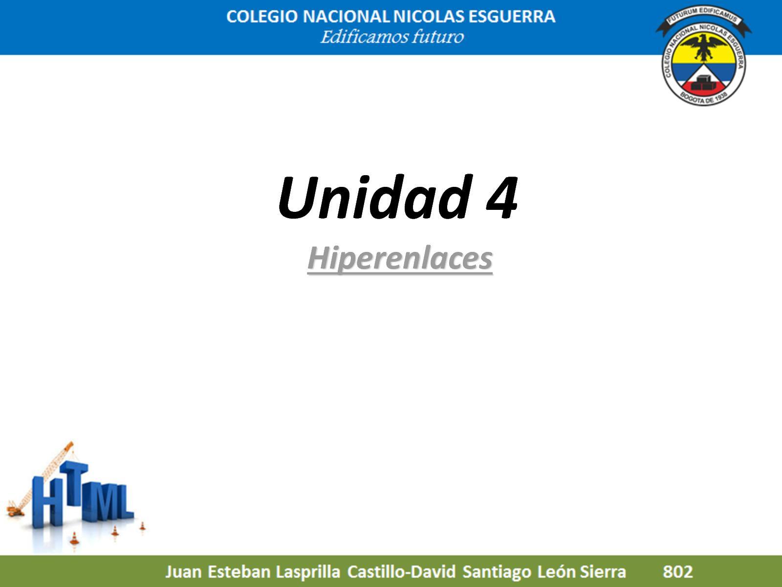 Html Unidad 4