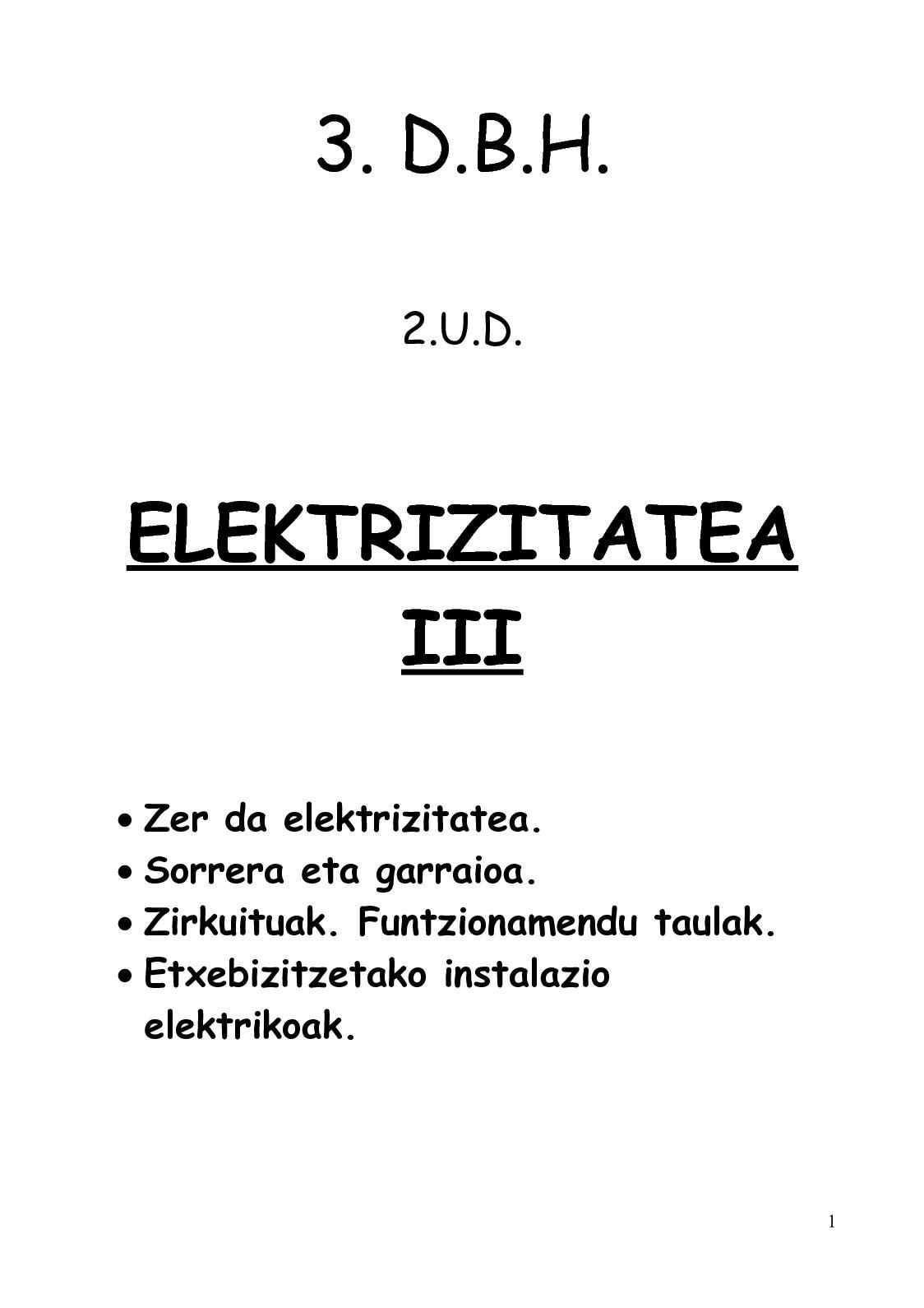 2 Ud Elektrizitatea Iii A Ikasleak