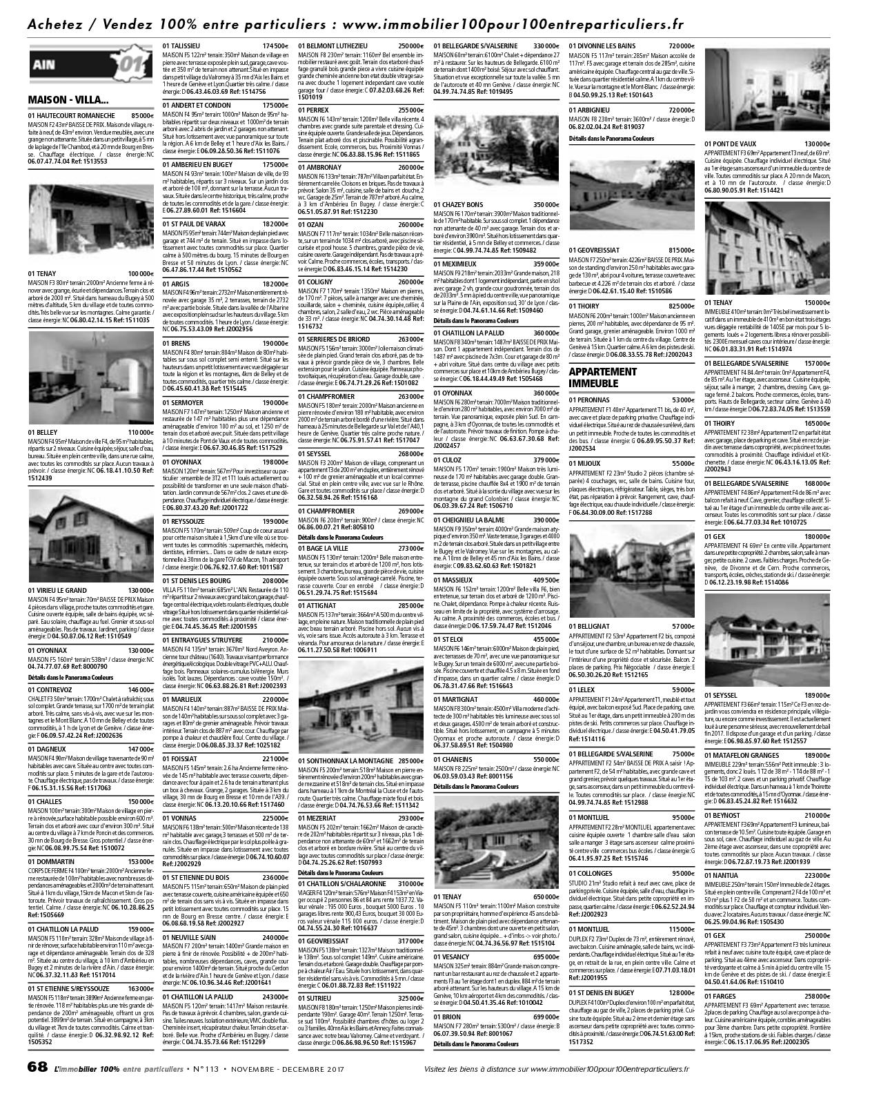 L Immobilier 100 Entre Particuliers Appelimmo N 113 Novembre  # Abris De Jardin Nc