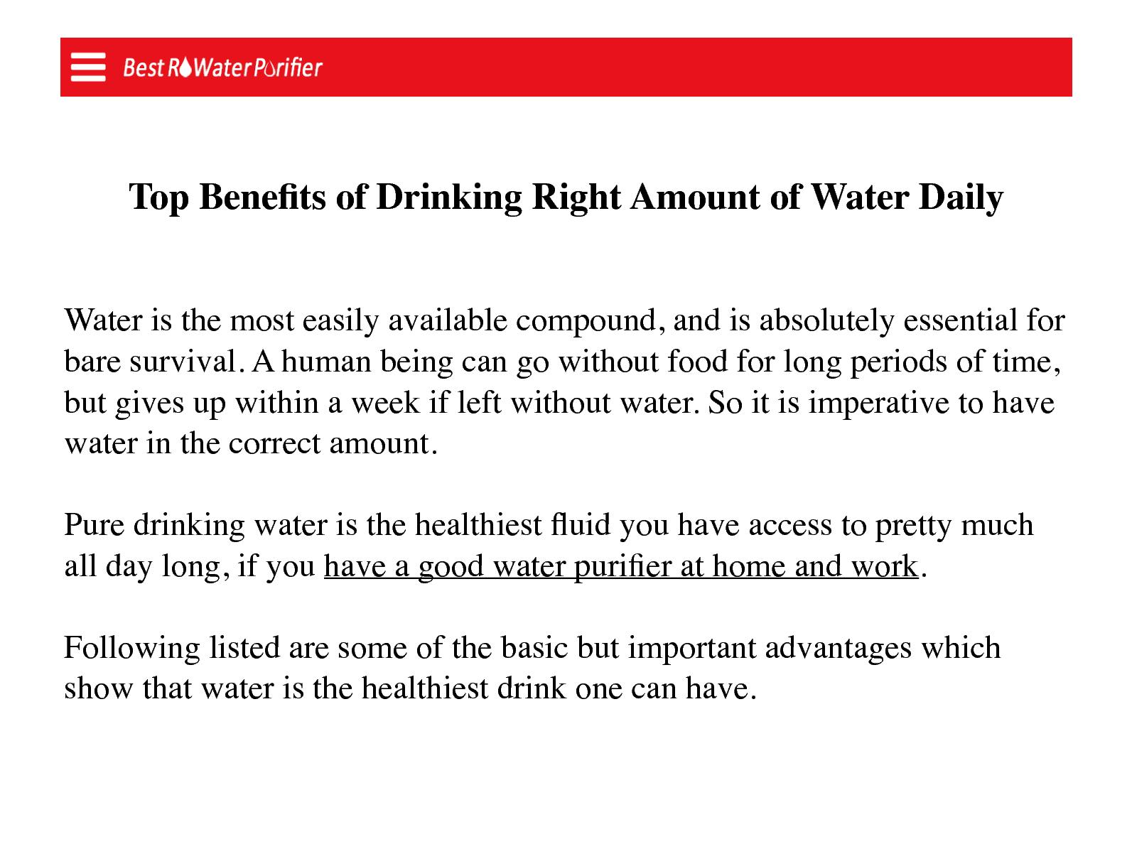 Drinking Pure Water Will Help Prevent Which Of The Following