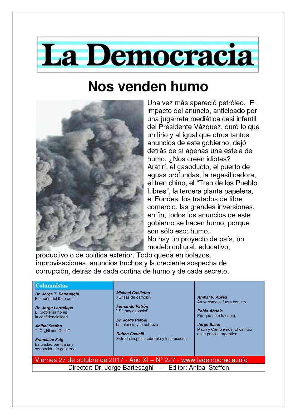 La Democracia - Nº 227 - 27/10/20177