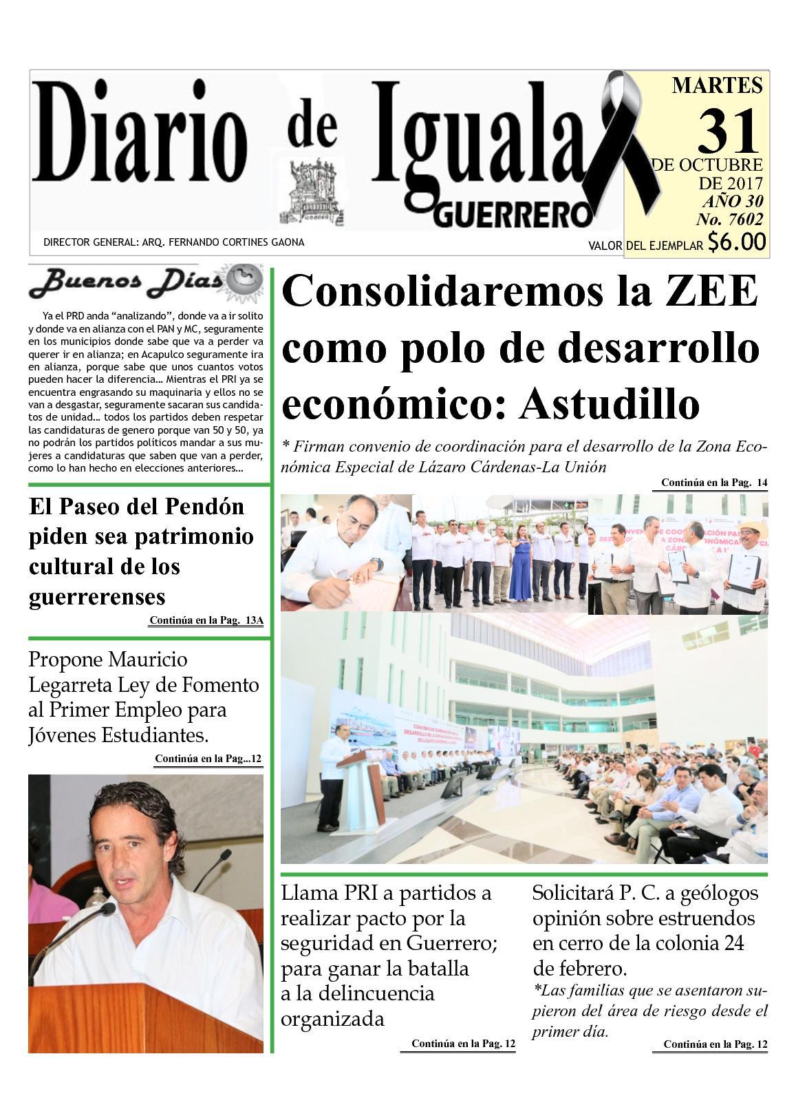 Diario De Iguala Martes 31 De Octubre De 2017 Completo