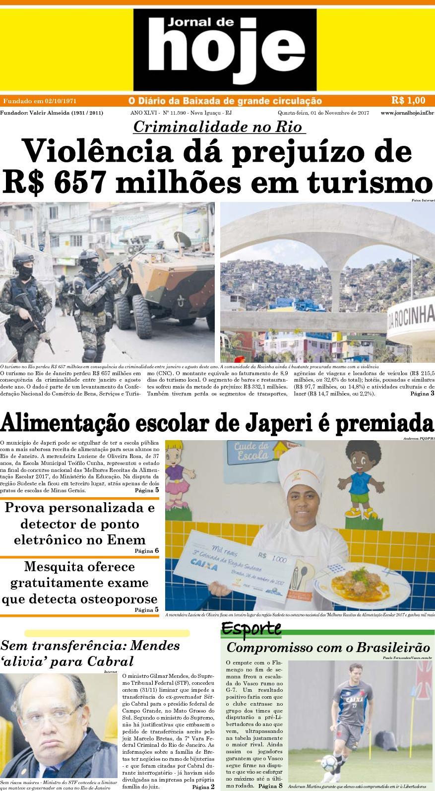 Jornal De Hoje 011117