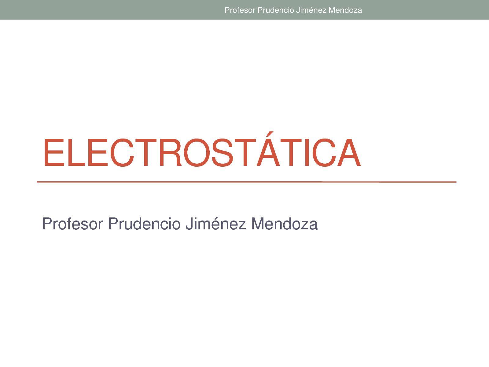 Diapositivas Electrostatica 2017