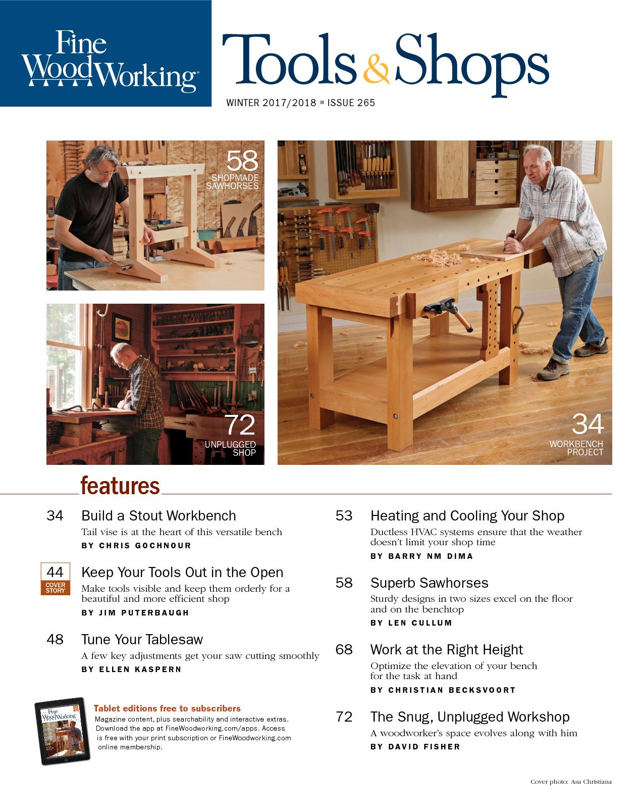 Fine Woodworking 265 Winter 2017 2018 Tools And Shops