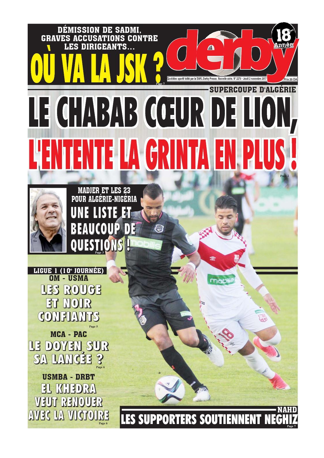 derby du 02.11.2017