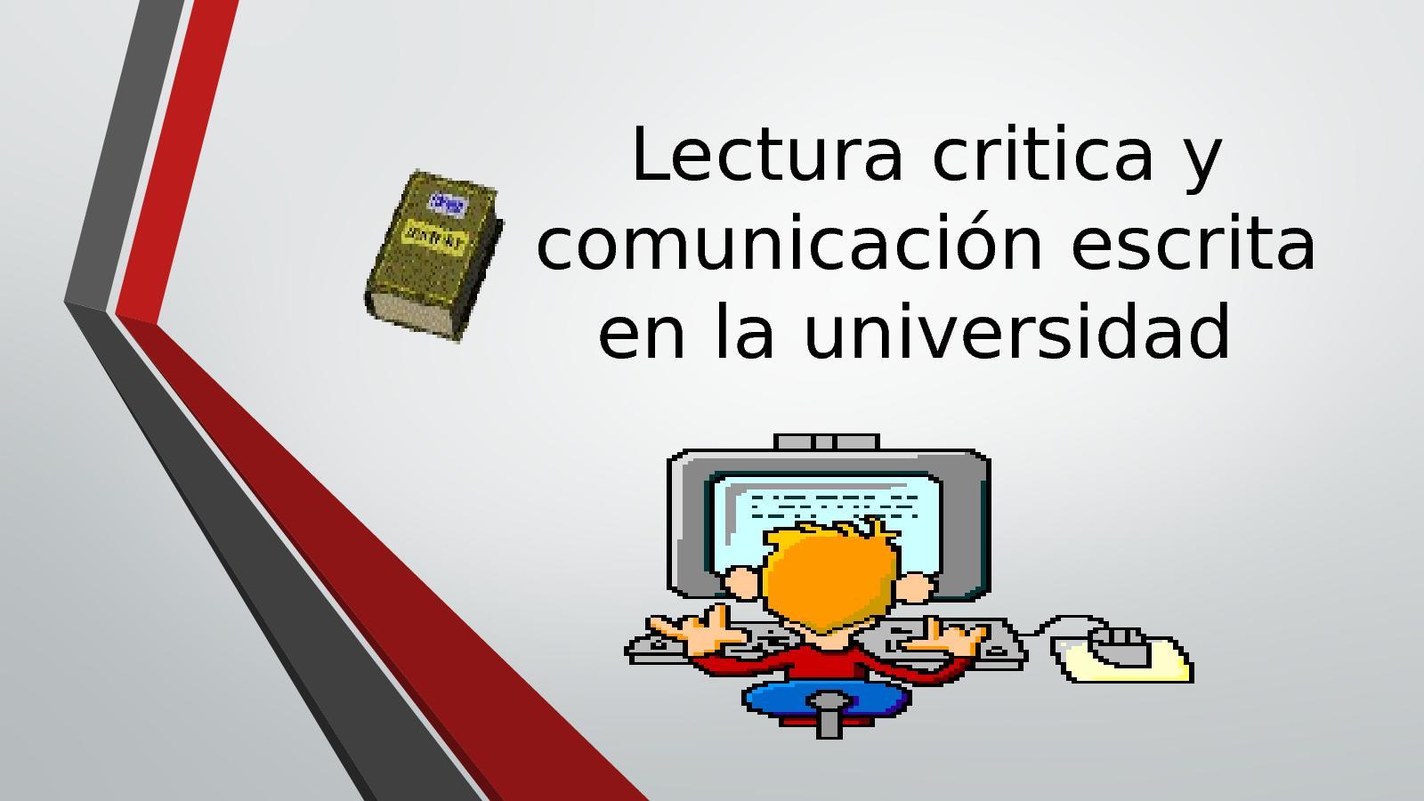 Lectura Critica Y Comunicación Escrita