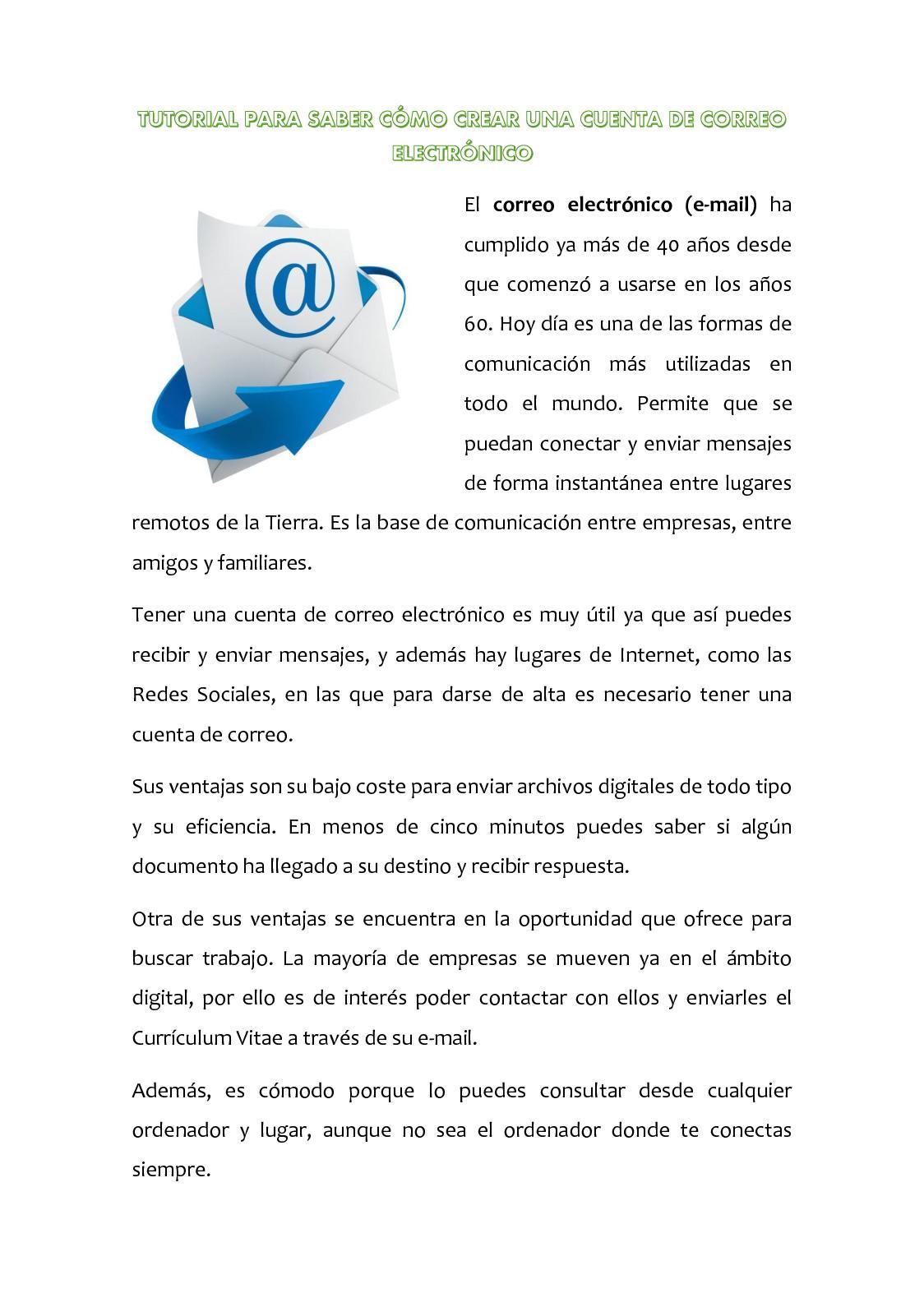 Calaméo - Tutorial Para Saber Cómo Crear Una Cuenta De Correo ...