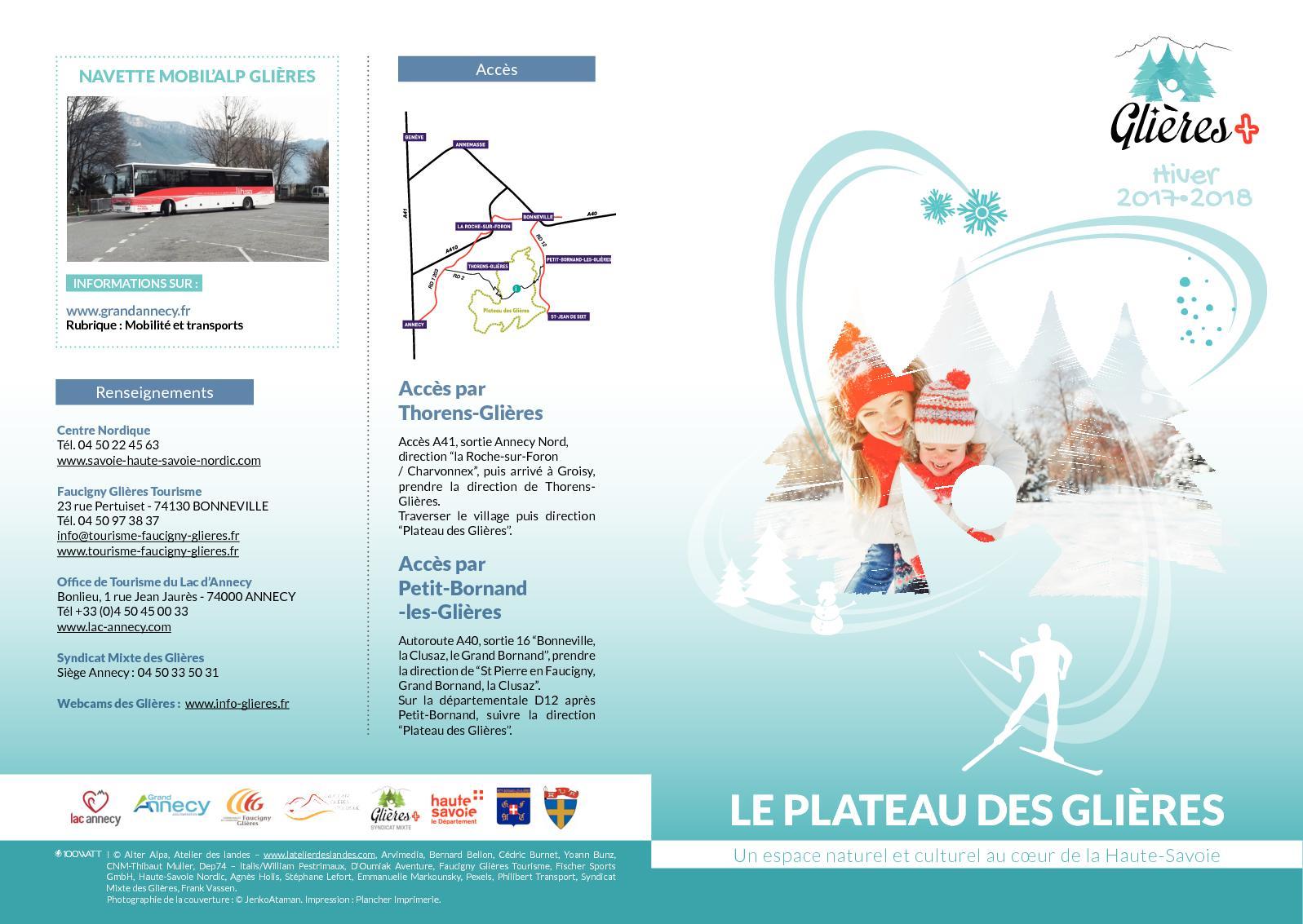 Brochure  Plateau des Glières hiver 2017-18