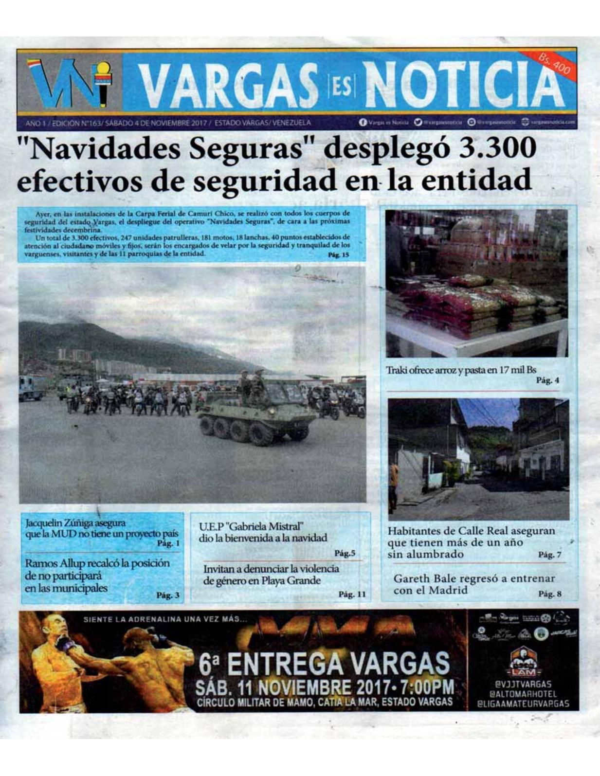 Vargas es Noticia, sábado 4 de octubre de 2017 N° 163