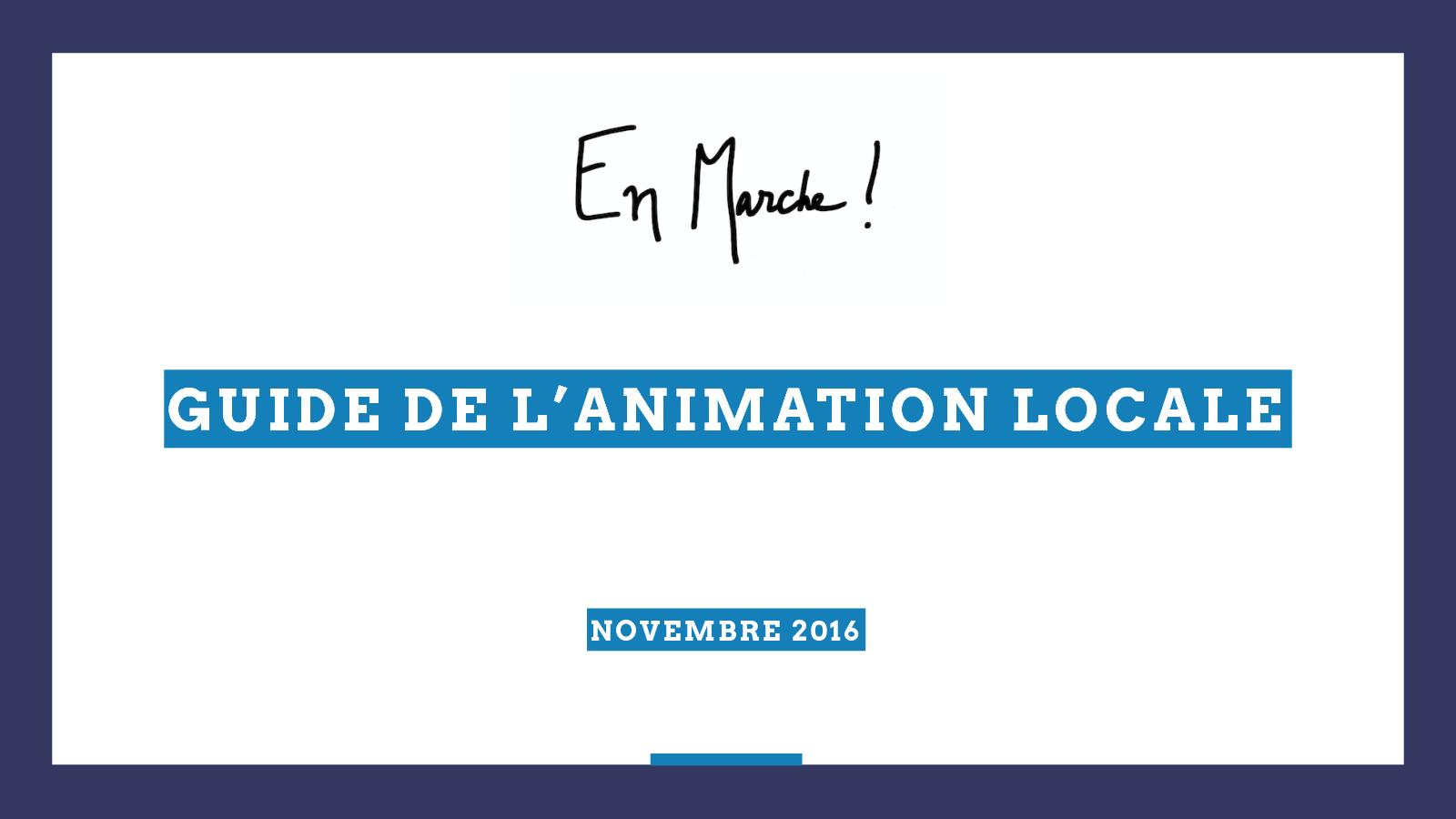 Guide de l'animation LaRem
