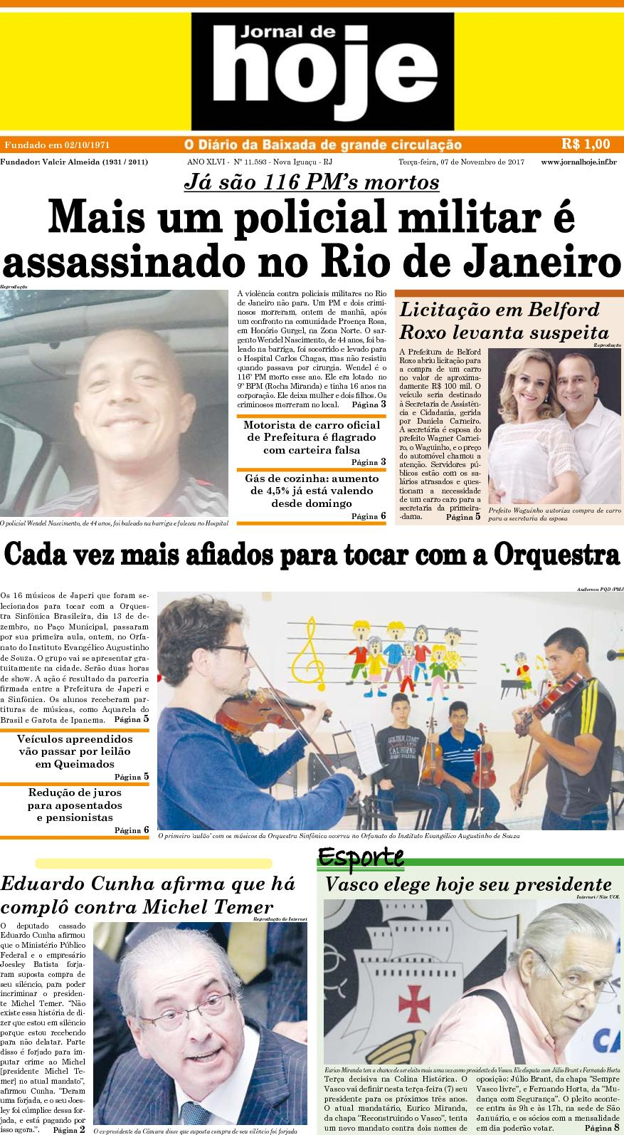 Jornal De Hoje 071117