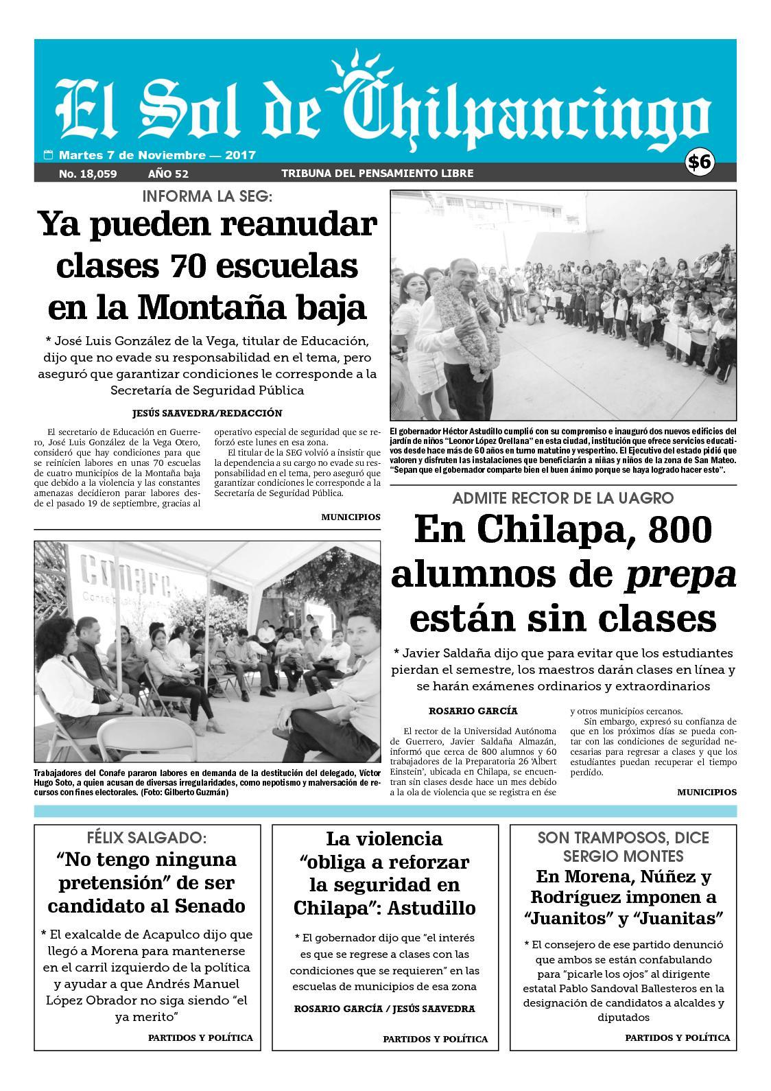 Calaméo - Sol de Chilpancingo - 07 de Noviembre de 2017