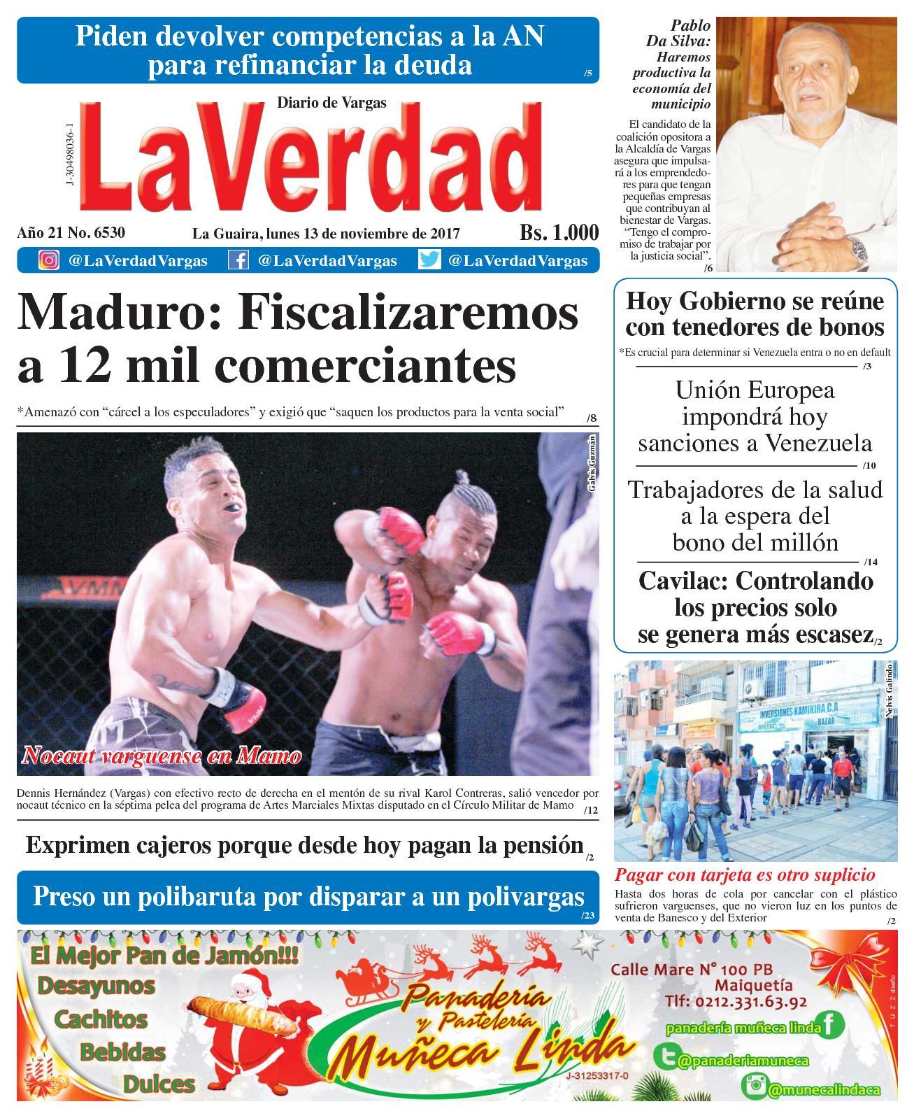 Calaméo - La Guaira, lunes 13 de Noviembre de 2017. Año 20 No. 6530