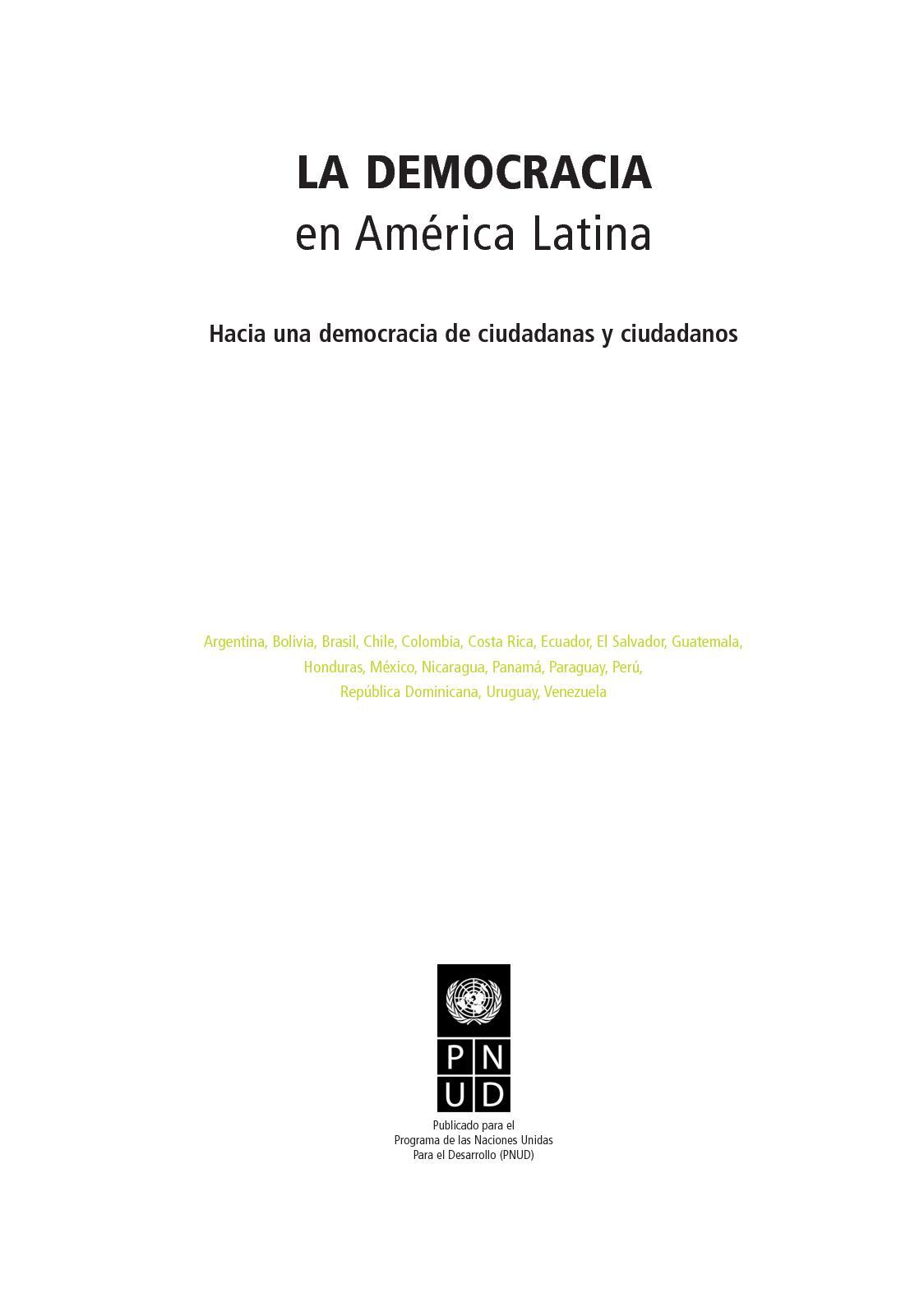 Calaméo - La Democracia en América Latina