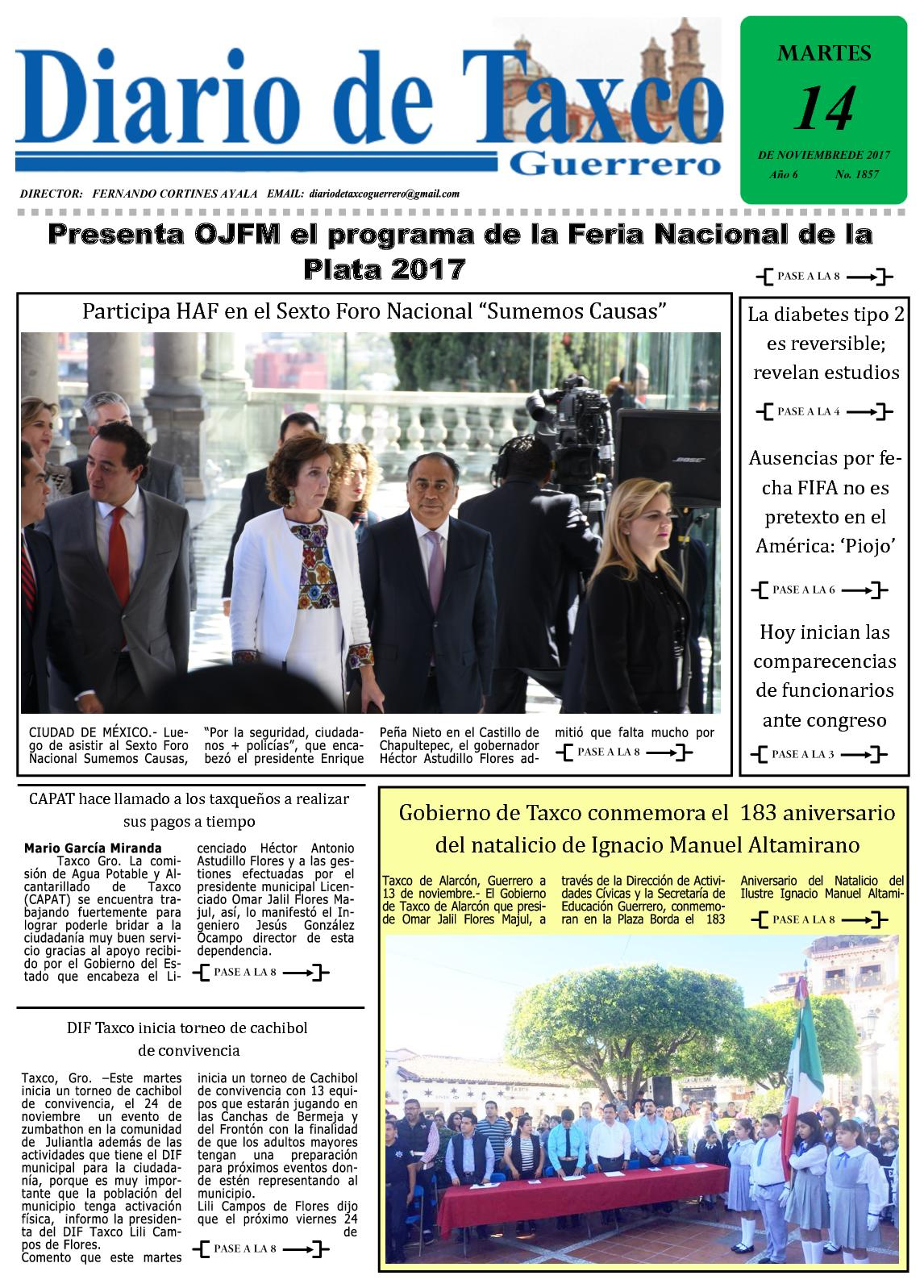 Diario De Taxco 14 11 17