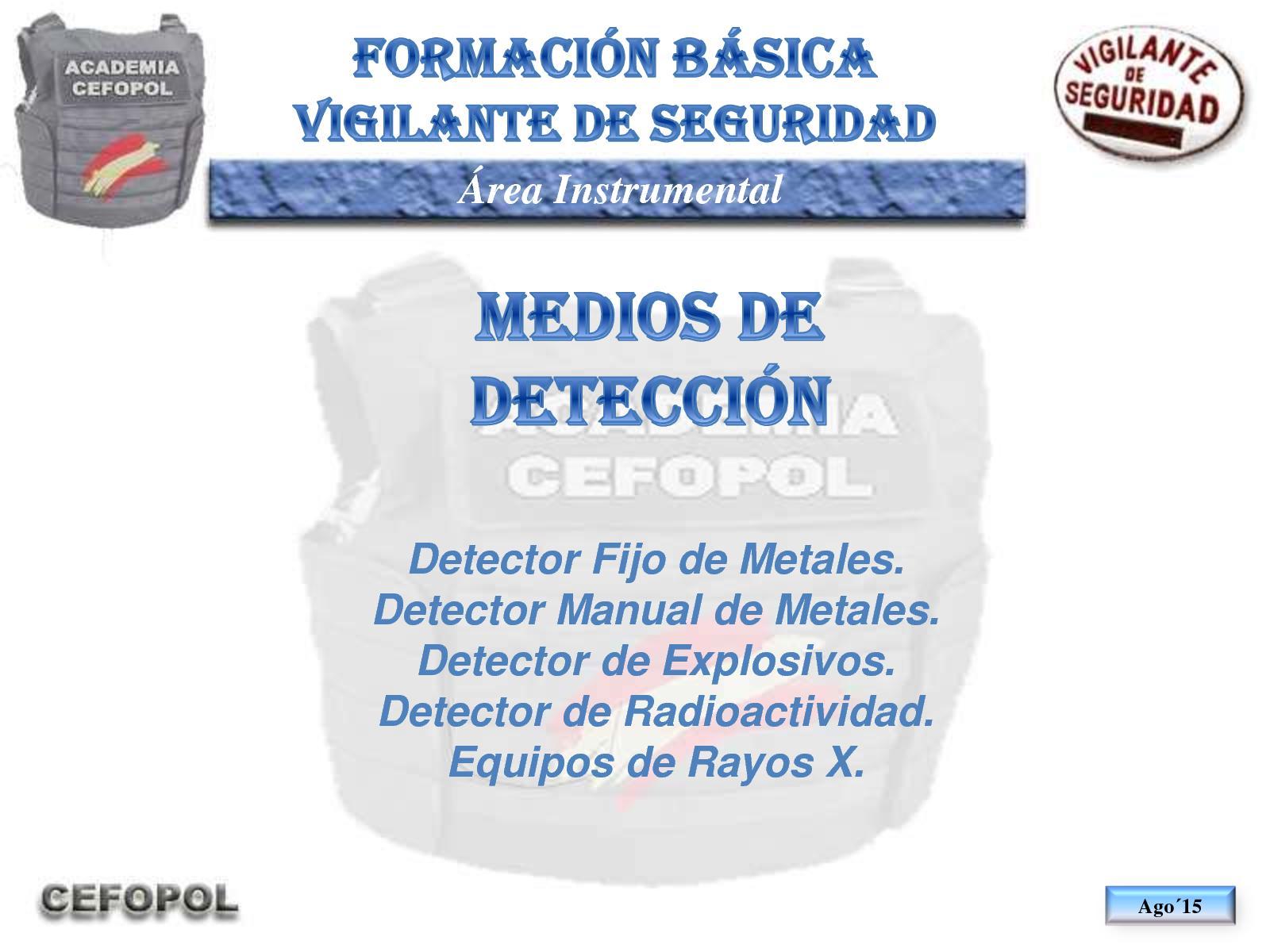 I03 10 - Los Medios De Detección