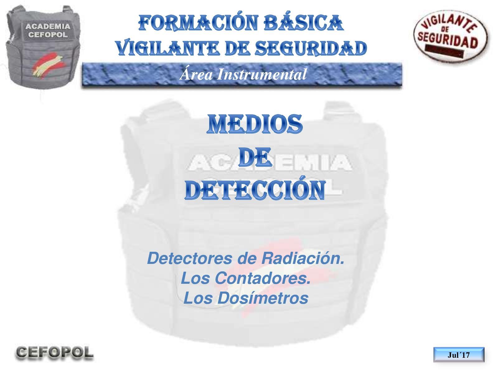 I03 70 - Detectores De Radioactividad