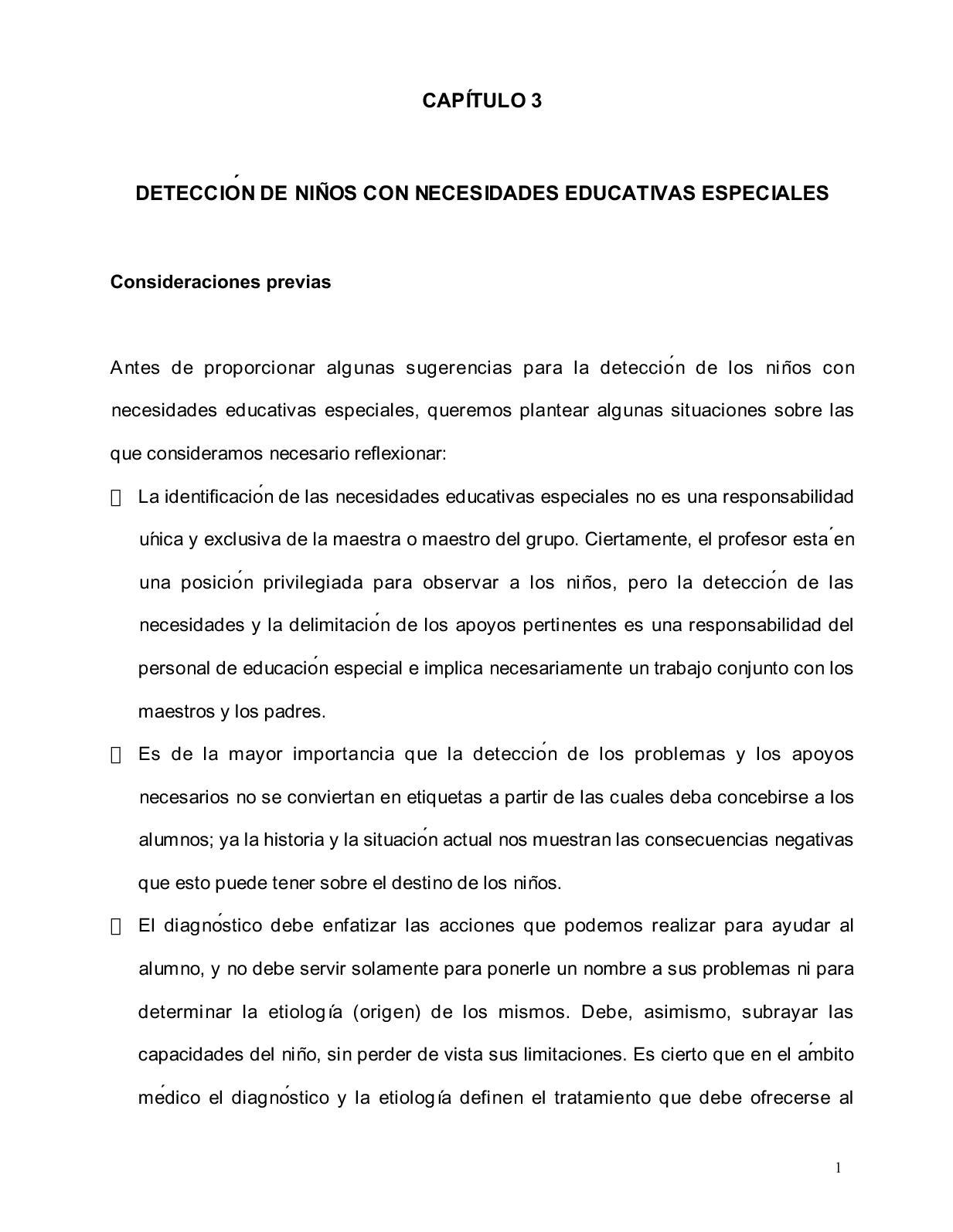 Calaméo - Deteccion De Niños Con Necesidades Educativa Especiales Cap 3