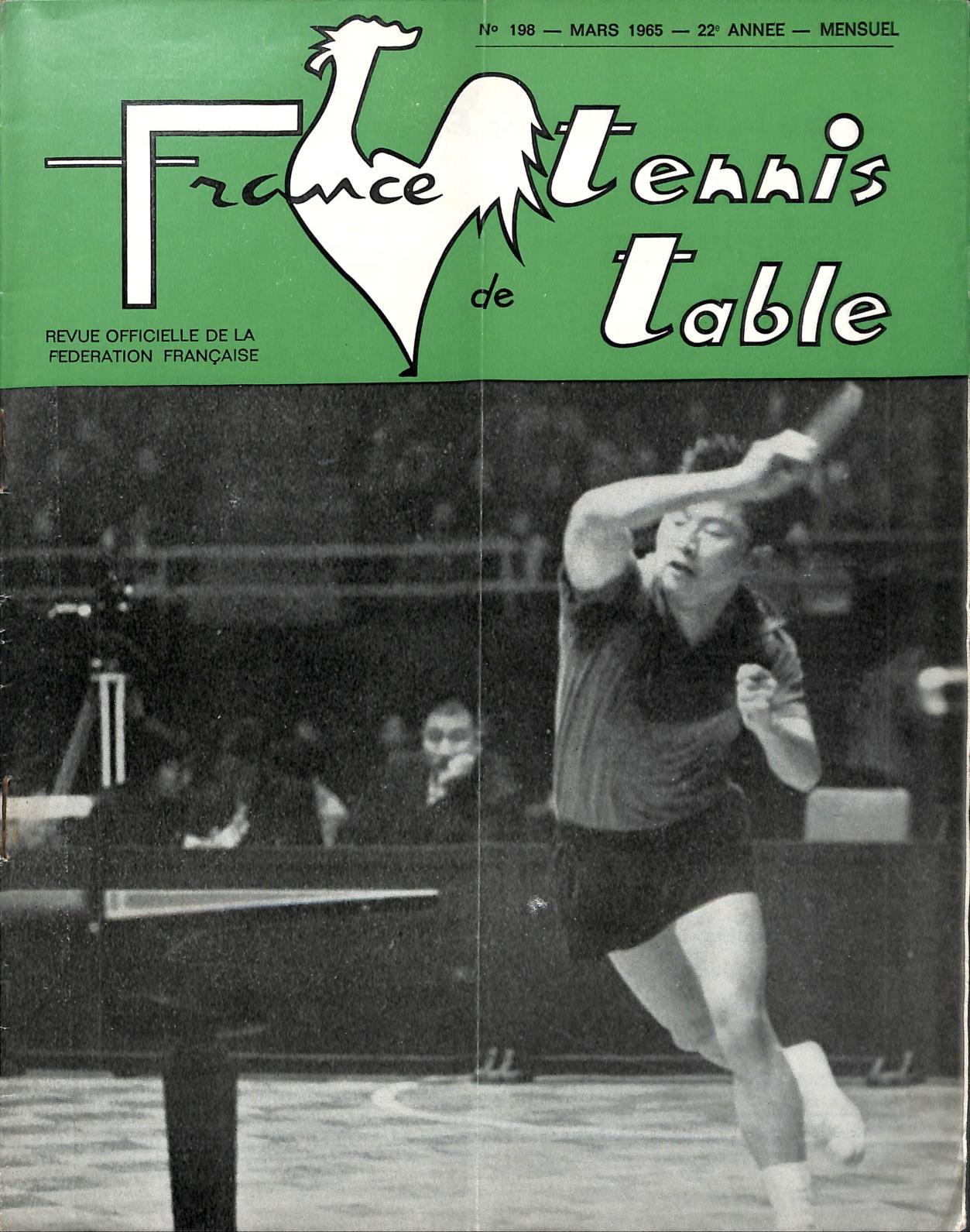 Calam o 1965 03 198 france tennis de table - Federation francaise tennis de table ...