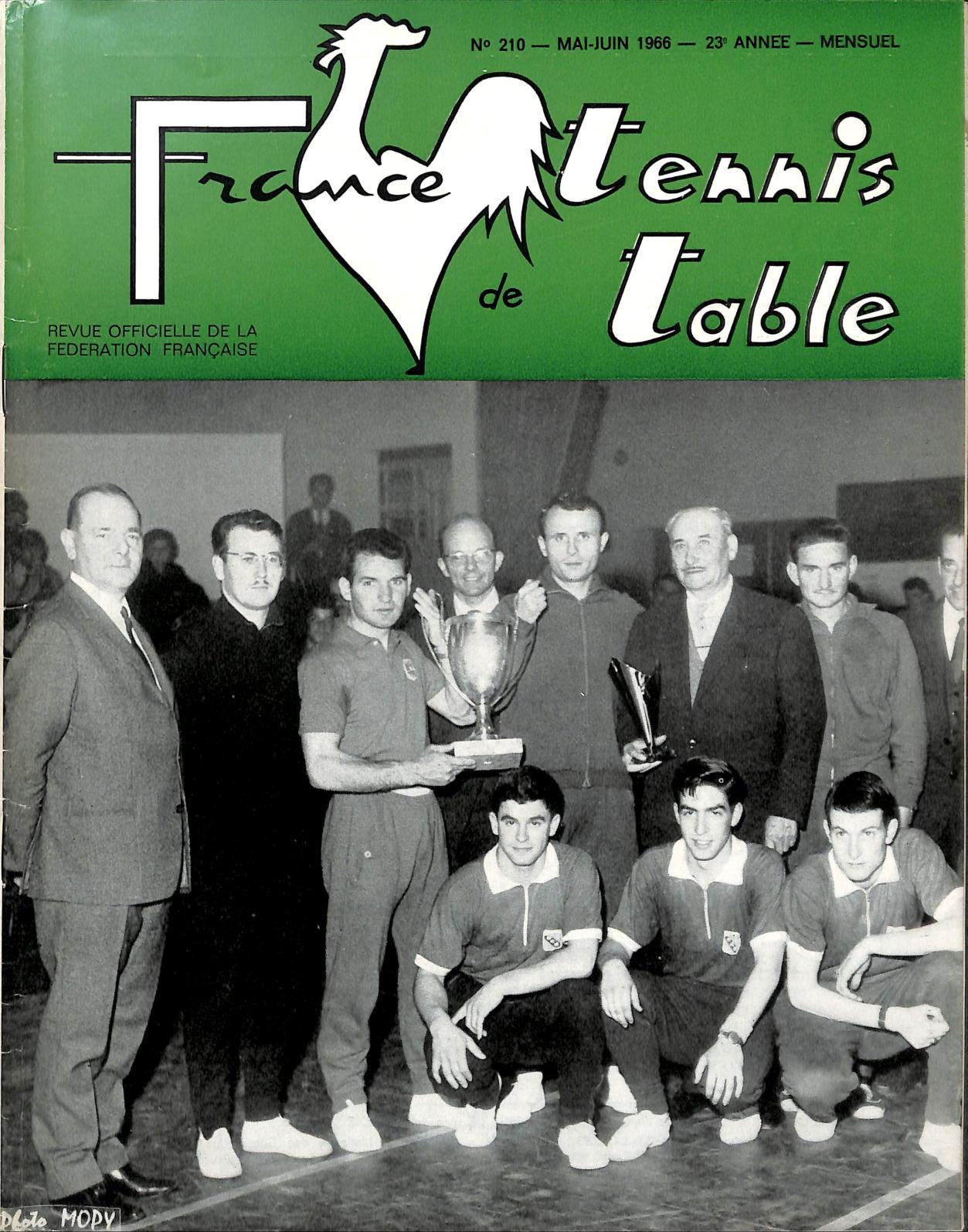 Calam o 1966 05 06 210 france tennis de table - Federation francaise tennis de table ...