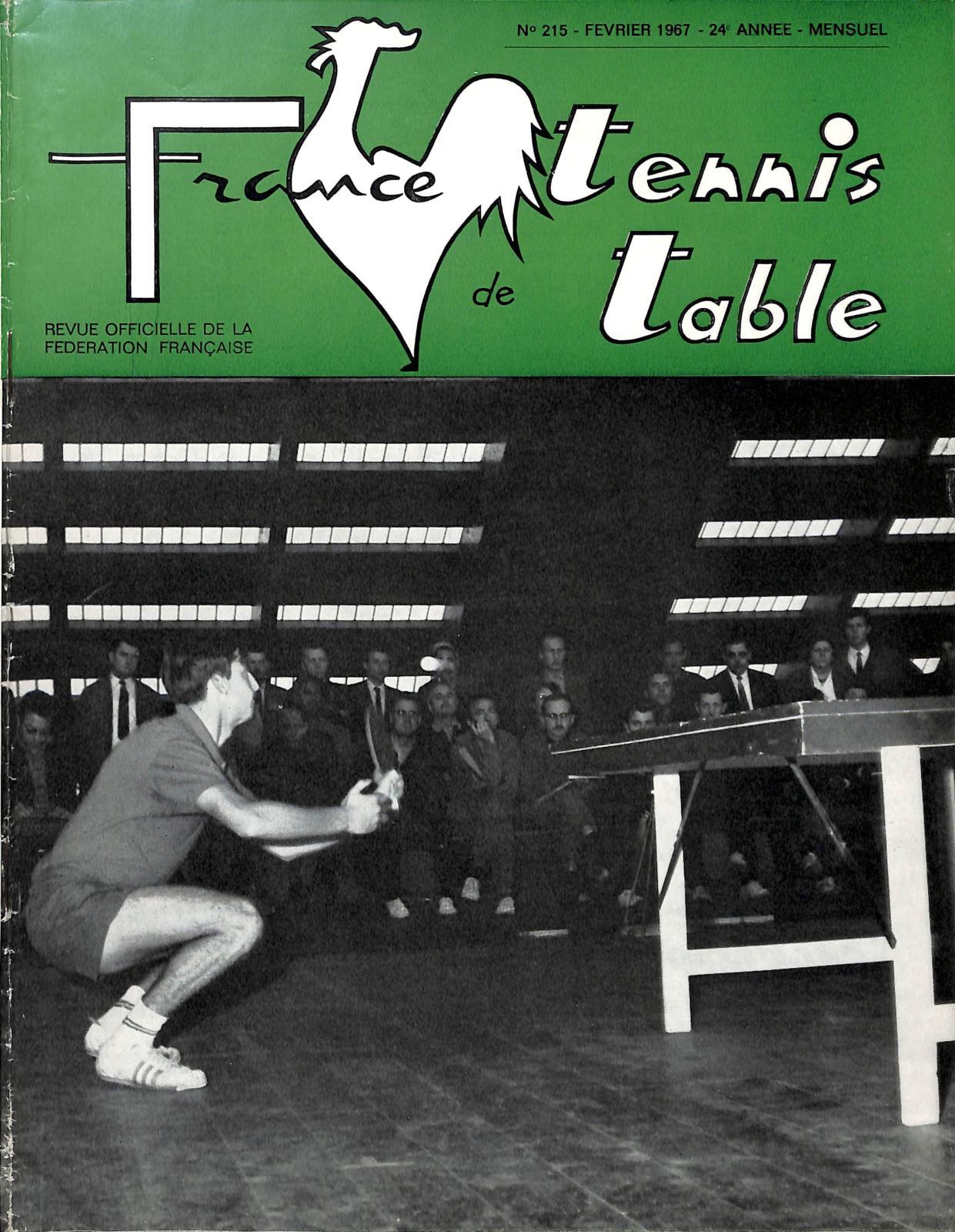 Calam o 1967 02 215 france tennis de table - Federation francaise tennis de table ...