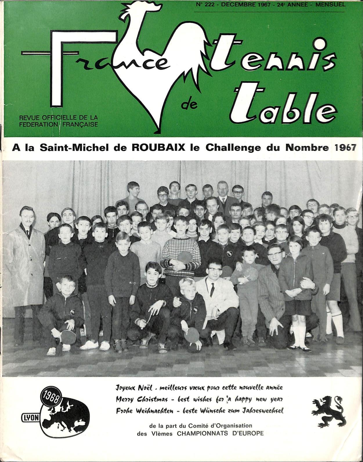 Calam o 1967 12 222 france tennis de table - Federation francaise tennis de table ...