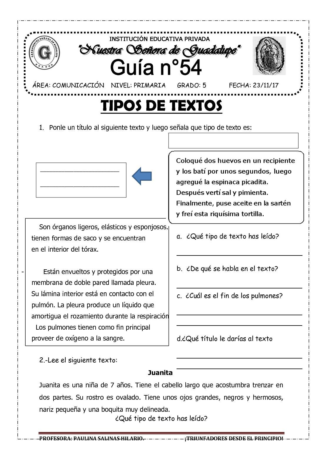 TIPOS  DE TEXTOS .