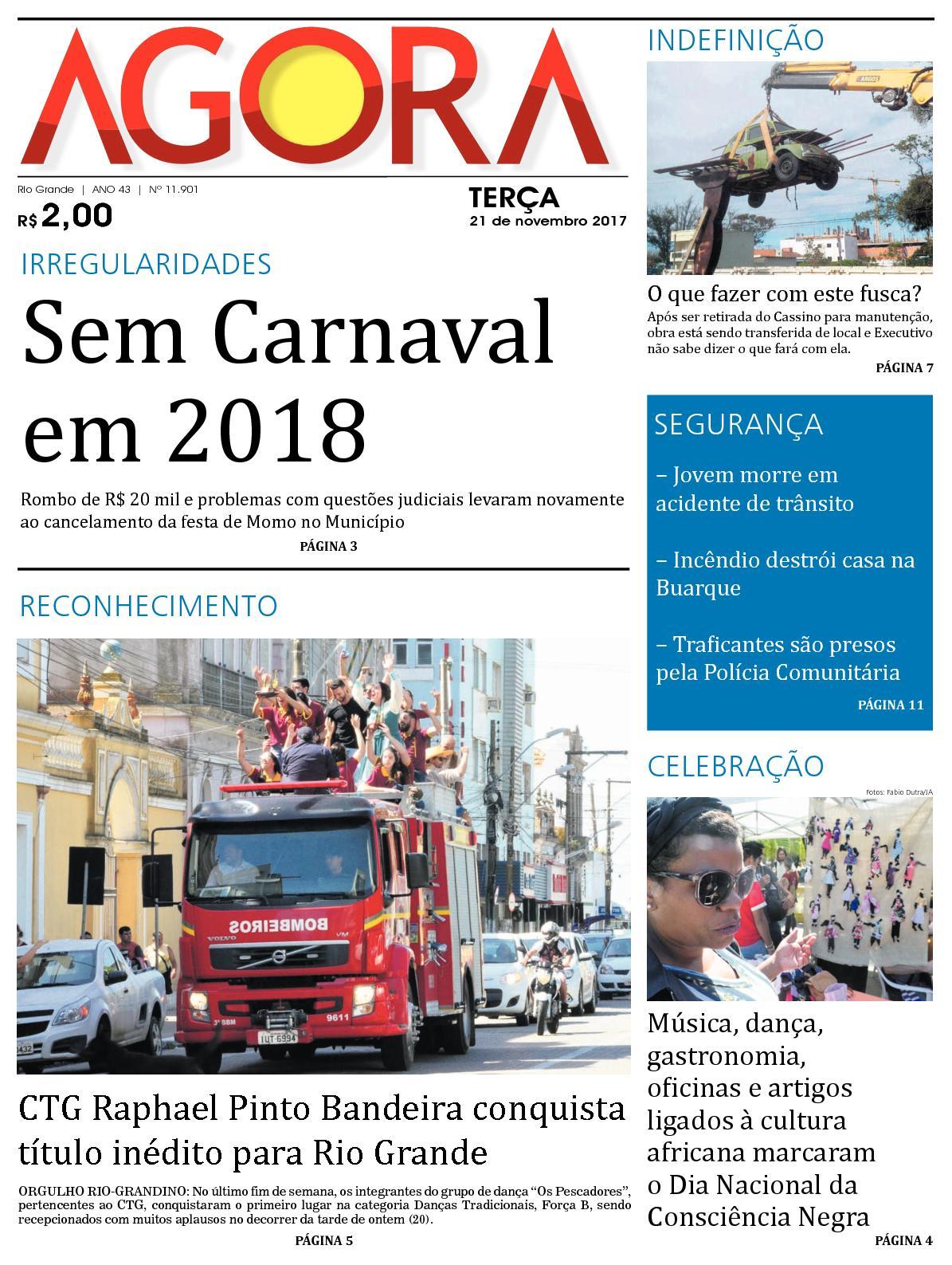 Jornal Agora - Edição 11901 - 21 de Novembro de 2017