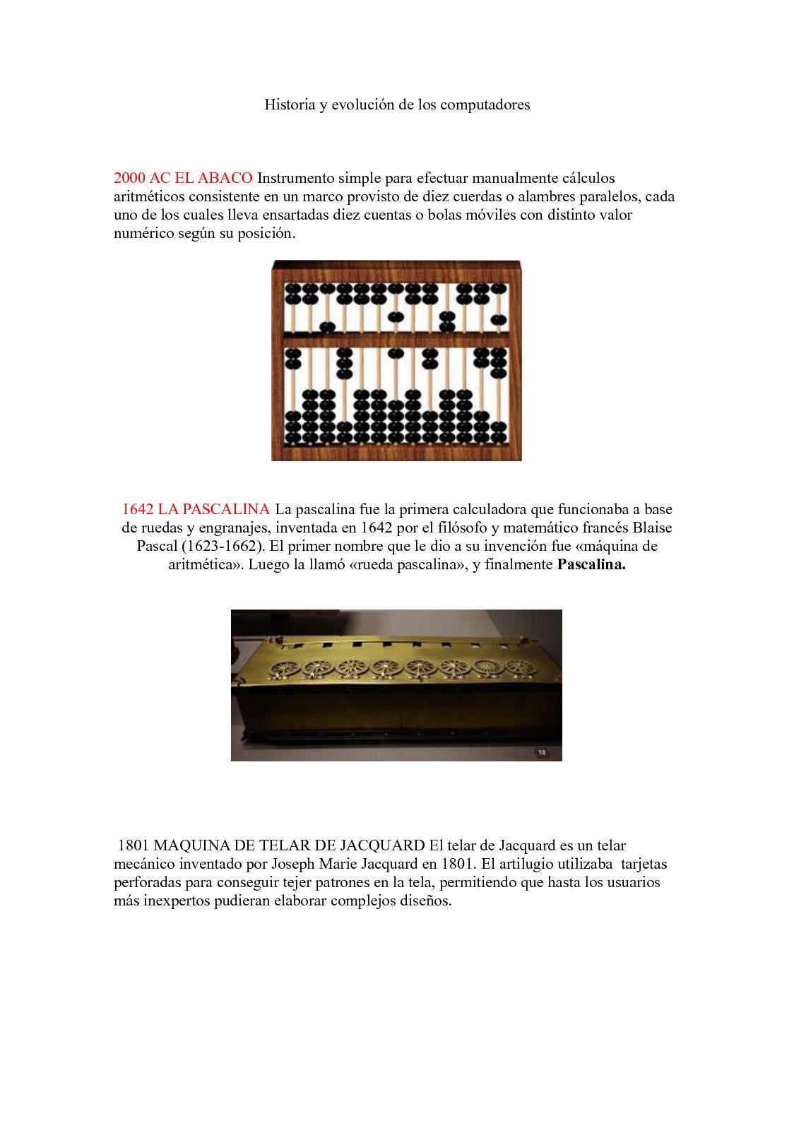 Calaméo - Historia Y Evolución De Los Computadores