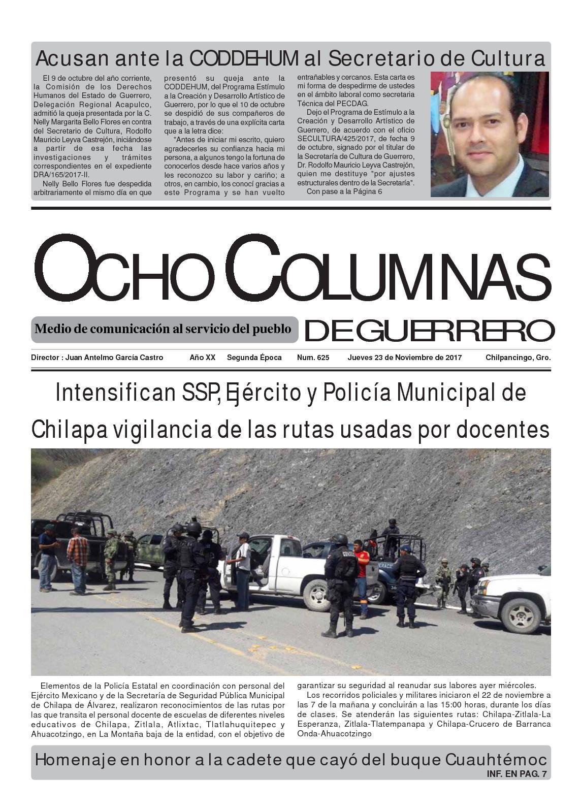 Calaméo - Ocho Columnas De Guerrero