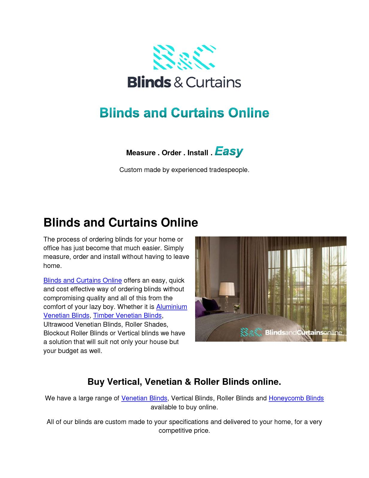Calaméo   Blinds And Curtains Online