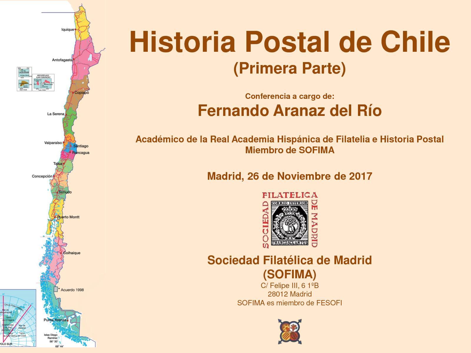 Historia Postal De Chile (1 Parte)