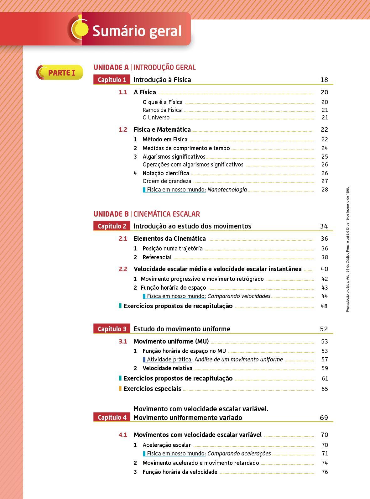 Moderna Plus - Física 1 - Os fundamentos da Física