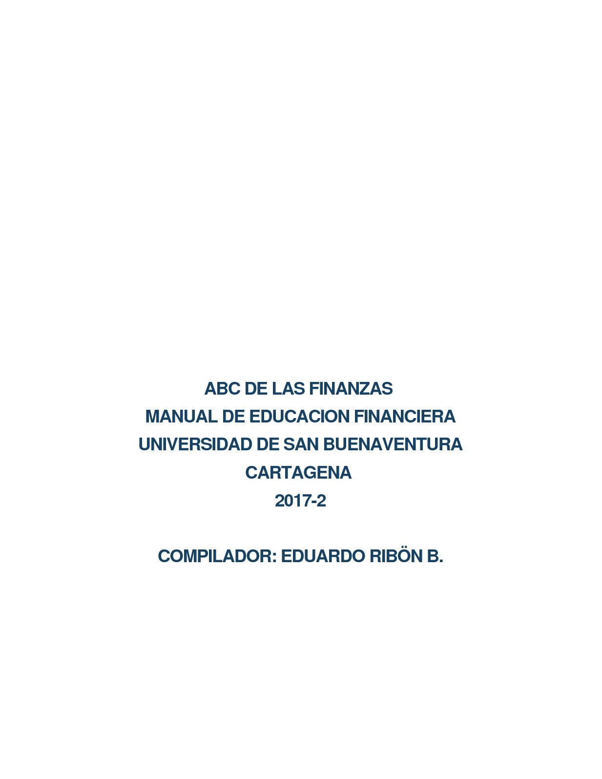 Manual Educacion Financiera Abc De Las Finanzas