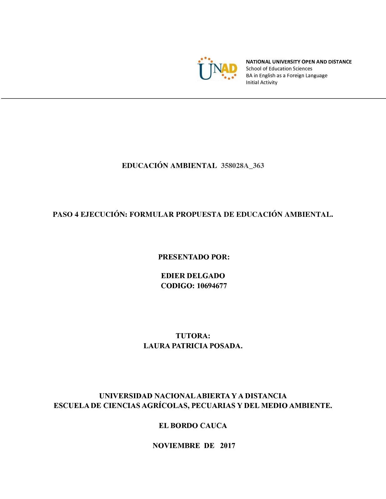 Paso 4 Ejecución Formular Propuesta De Educación Ambiental (2)