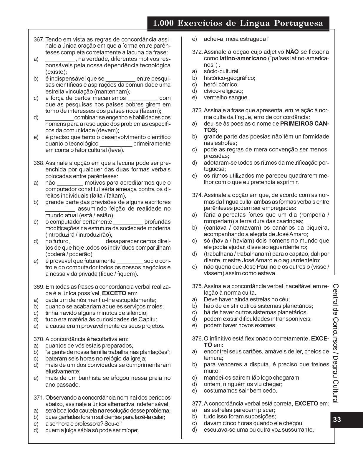 1 000 Exercícios De Língua Portuguesa 1 Calameo Downloader