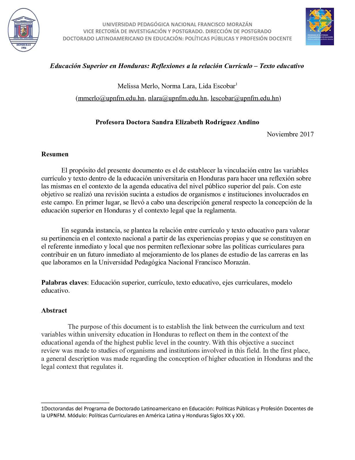 Calaméo - Ensayo La Educación Superior Lara, Merlo Y Escobar Nov ...