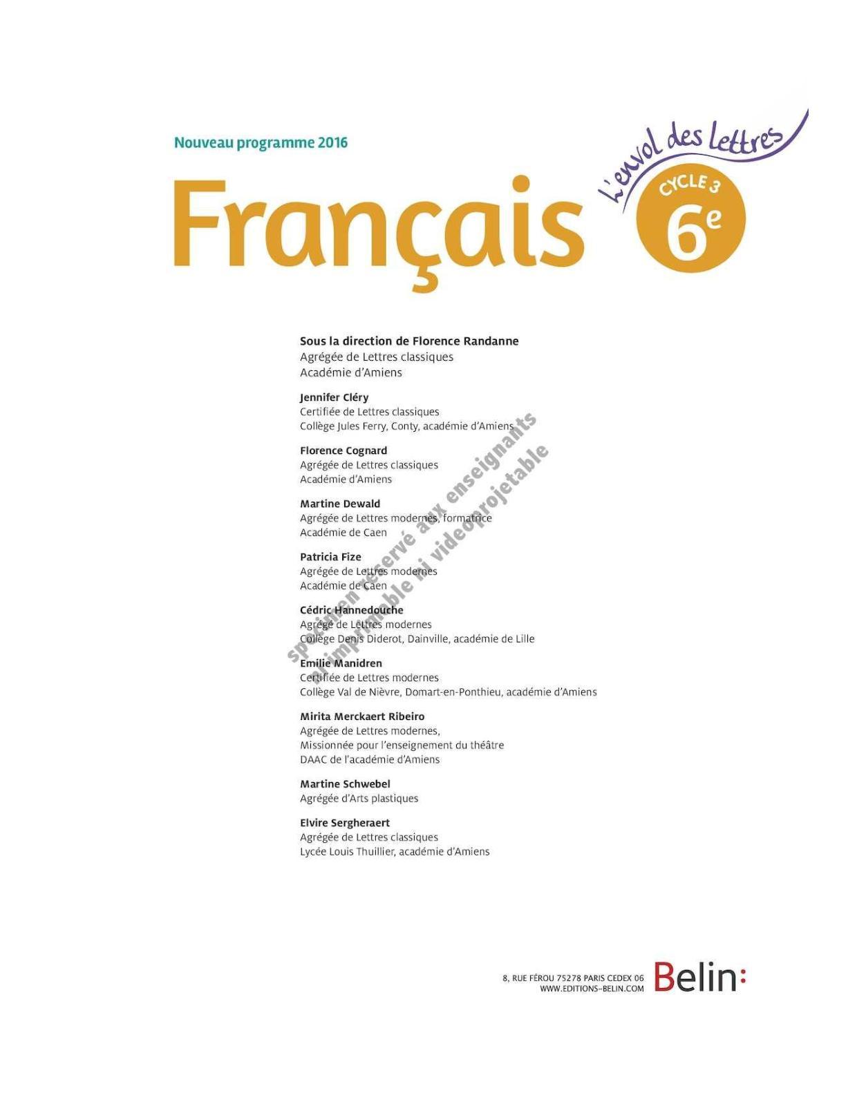 Belin Envol Des Lettres Sixieme Calameo Downloader
