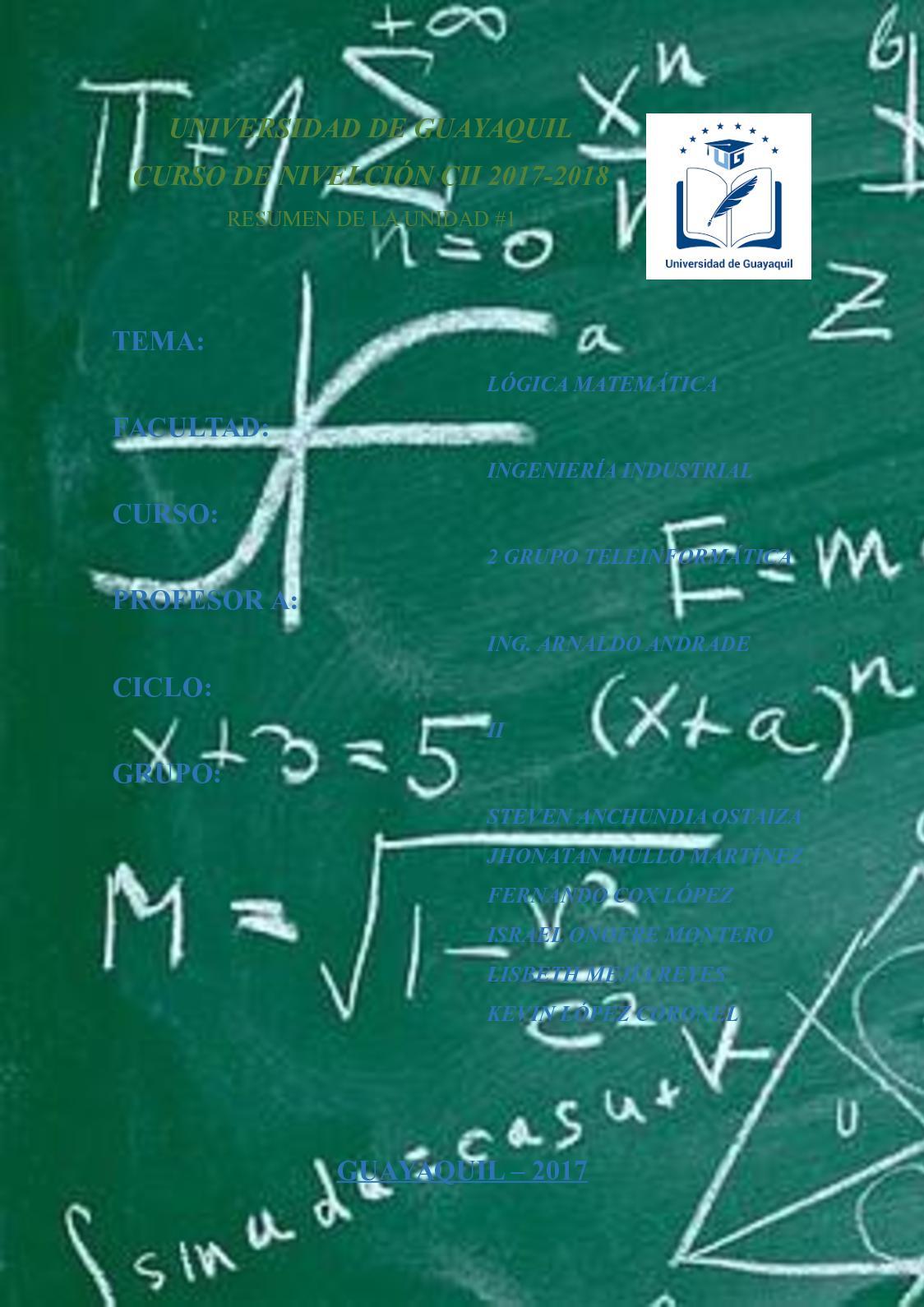 Unidad #1: Lógica Matemática