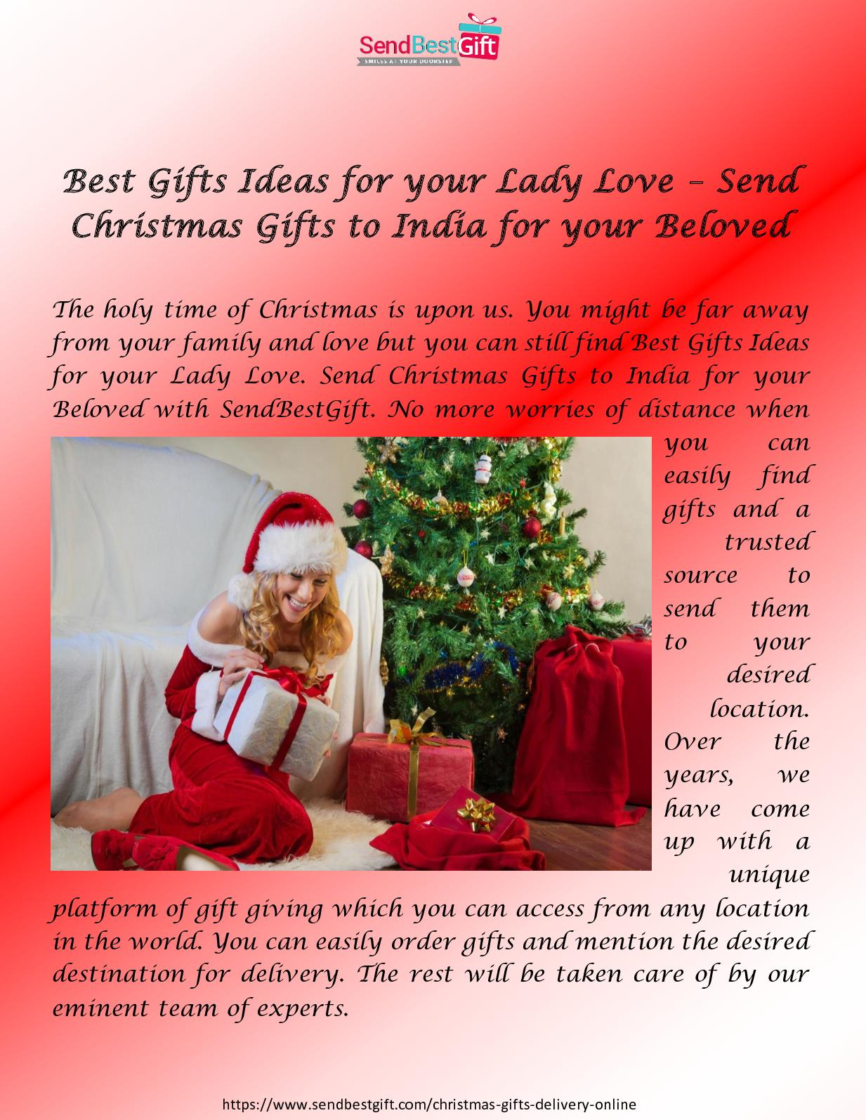 Calaméo - Best Gifts Ideas For Your Lady Love – Send Christmas Gifts ...