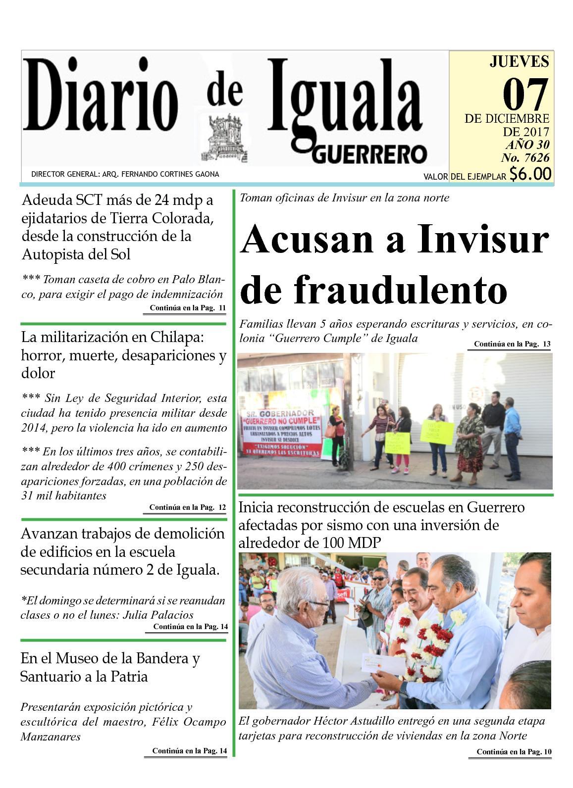 Calaméo - Diario De Iguala Jueves 07 De Diciembre De 2017