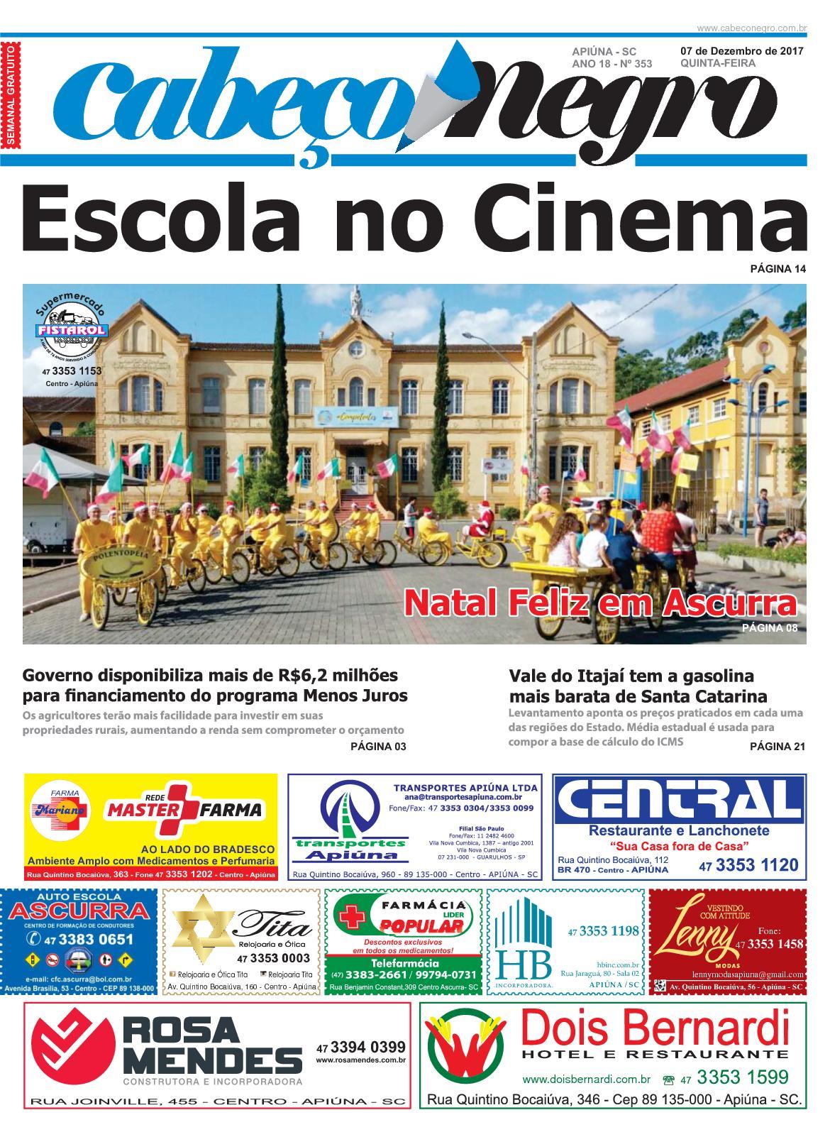Jornal CABEÇO NEGRO - Edição 353 07DEZ2017