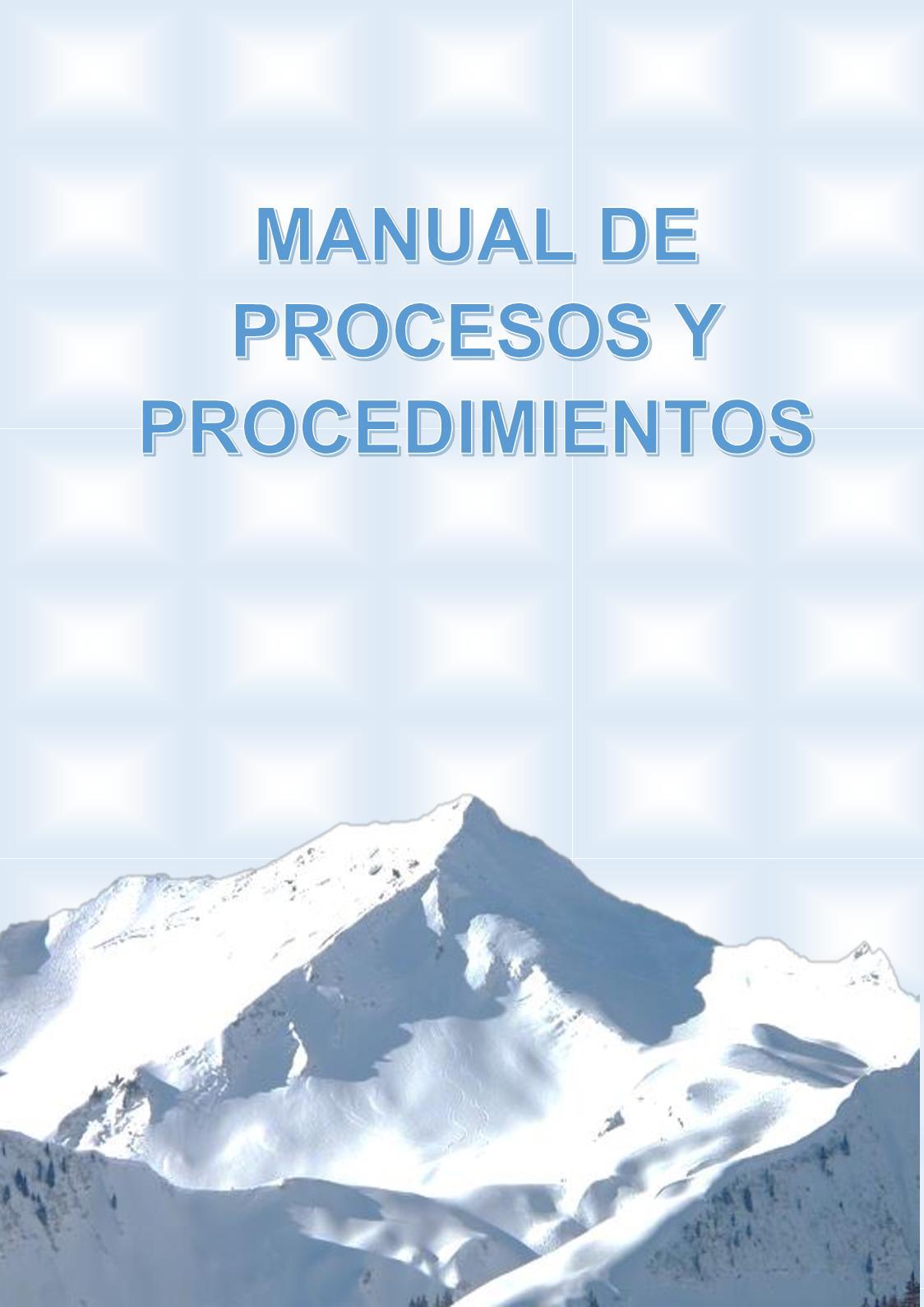 PROYECTO MANUAL DE PROCESOS Y PROCEDIMIENTOS